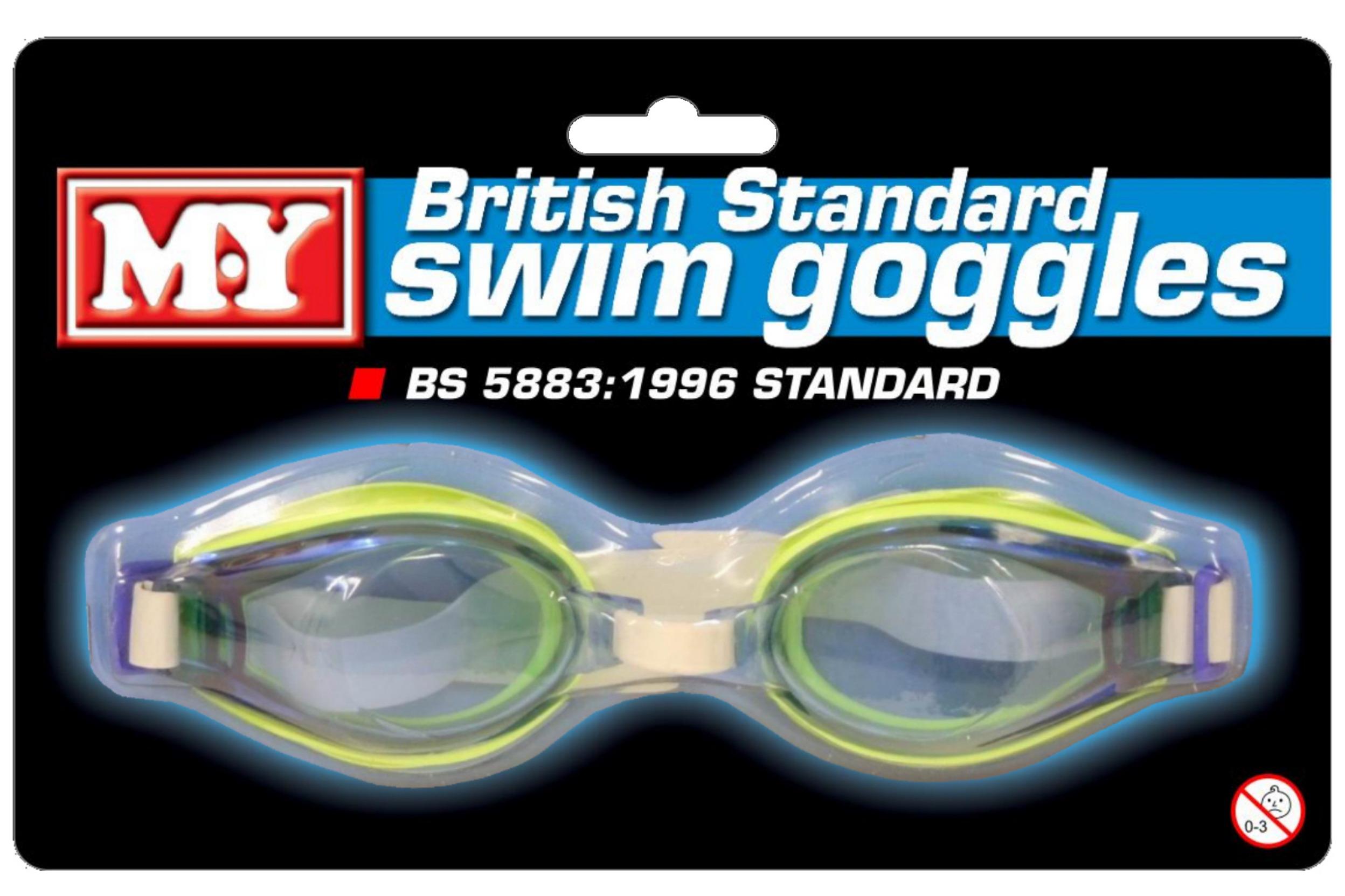 """M.Y"" British Standard Goggles On Blistercard"