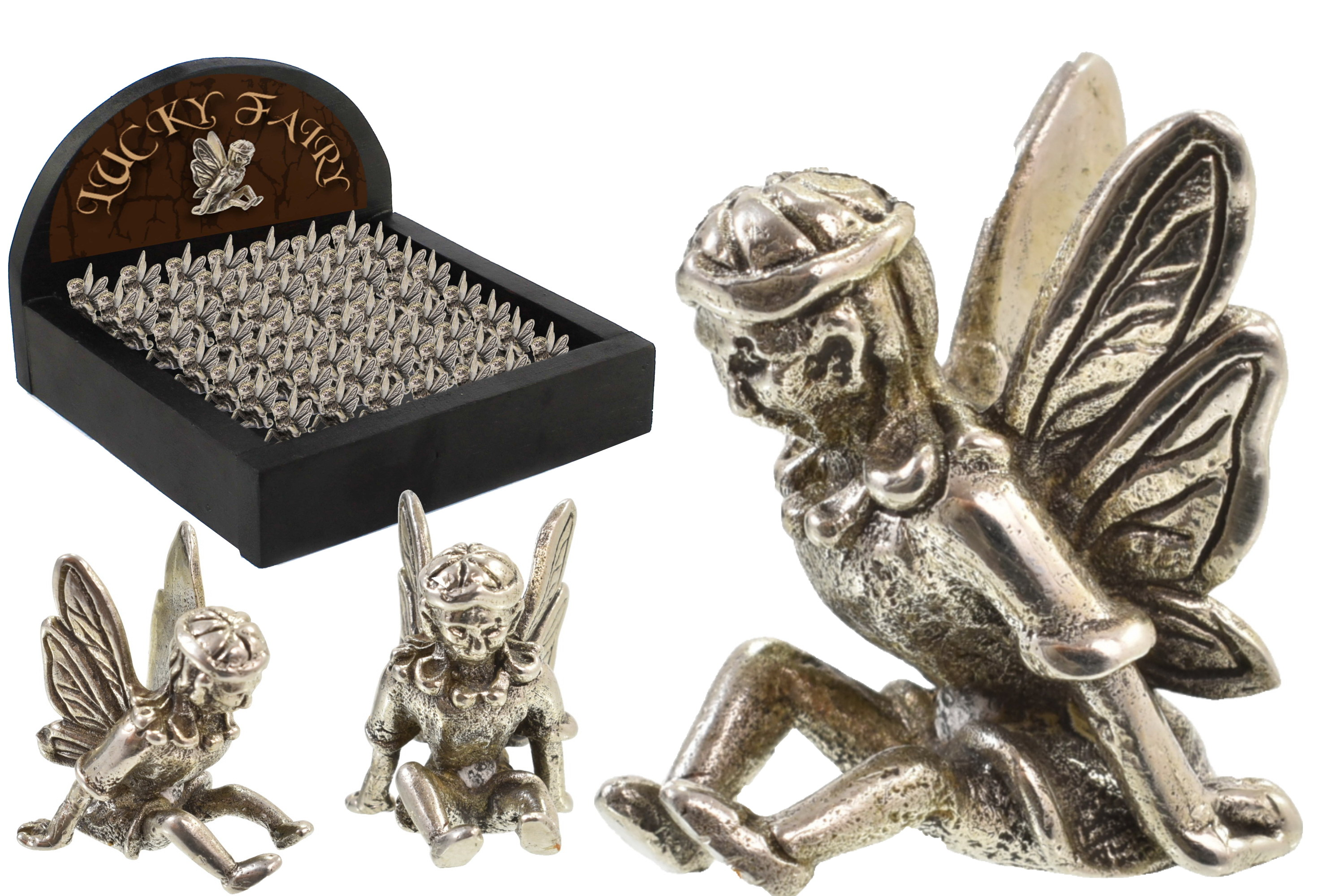 Lucky Fairy In Wooden Display Box