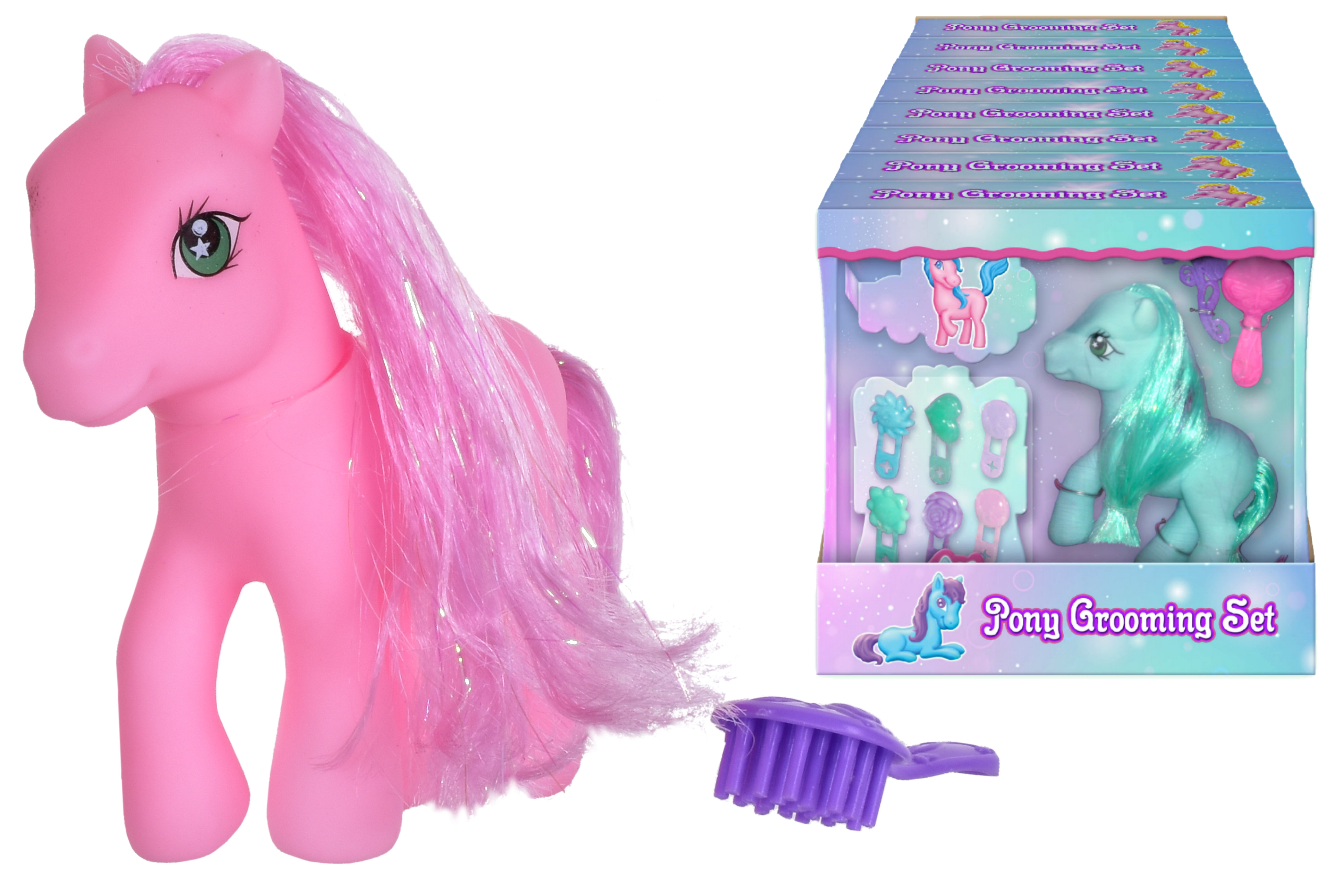 """Pretty Pony With Hair Clips In Pdq """"Its Girl Stuff"""""""