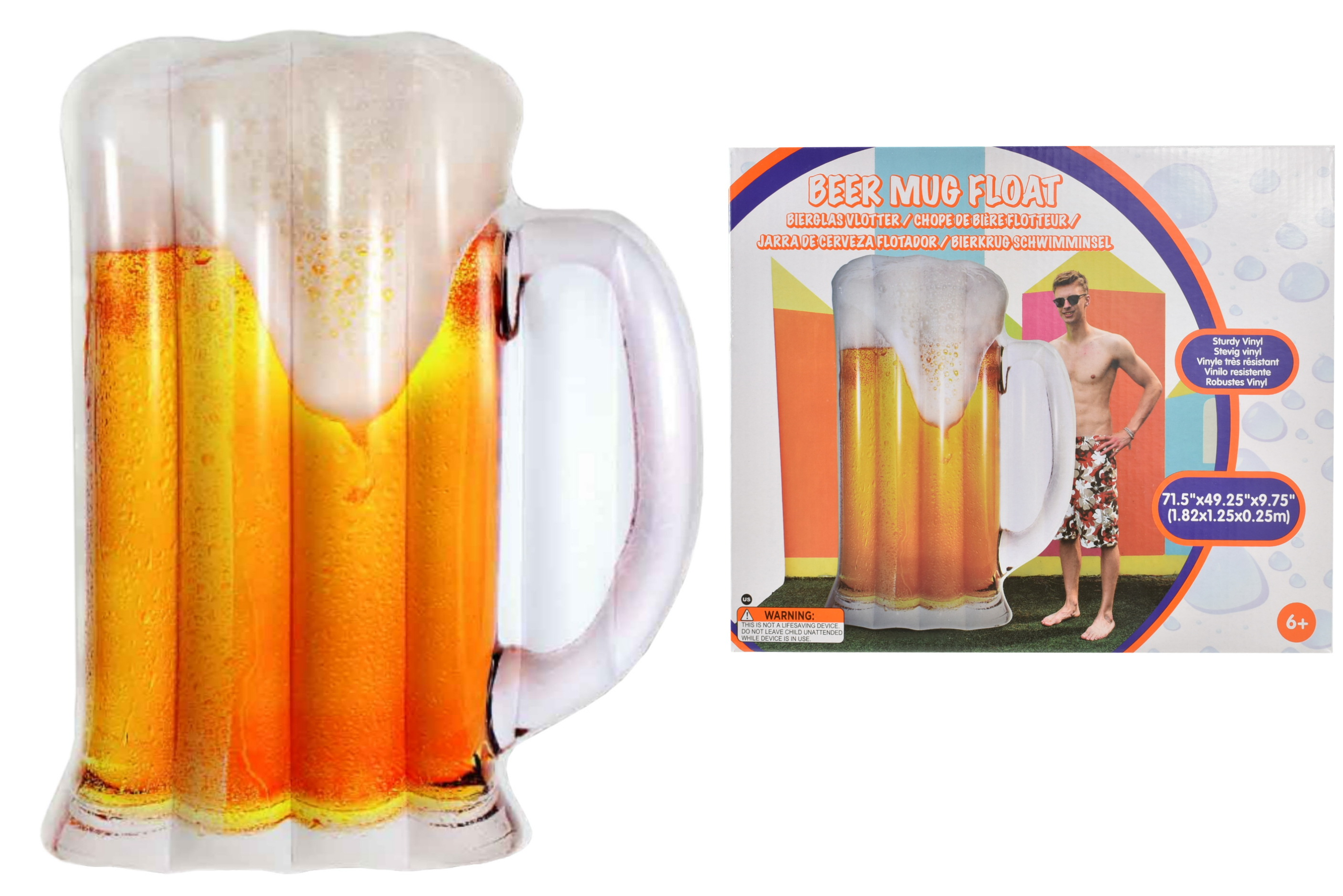 "Beer Mug Float 75"" x 57"""