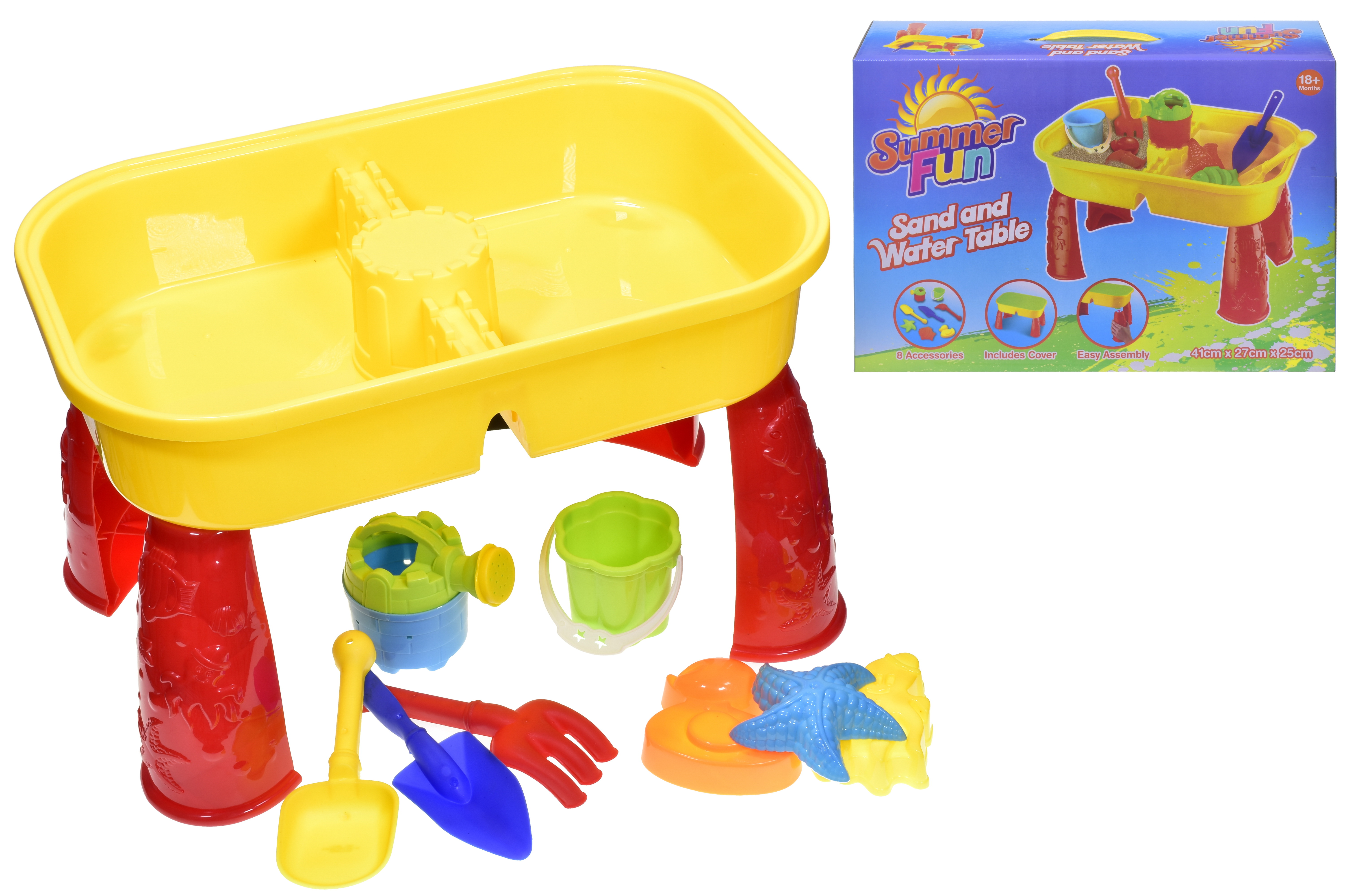 """Sand & Water Table In Colour Box """"Summer Fun"""""""