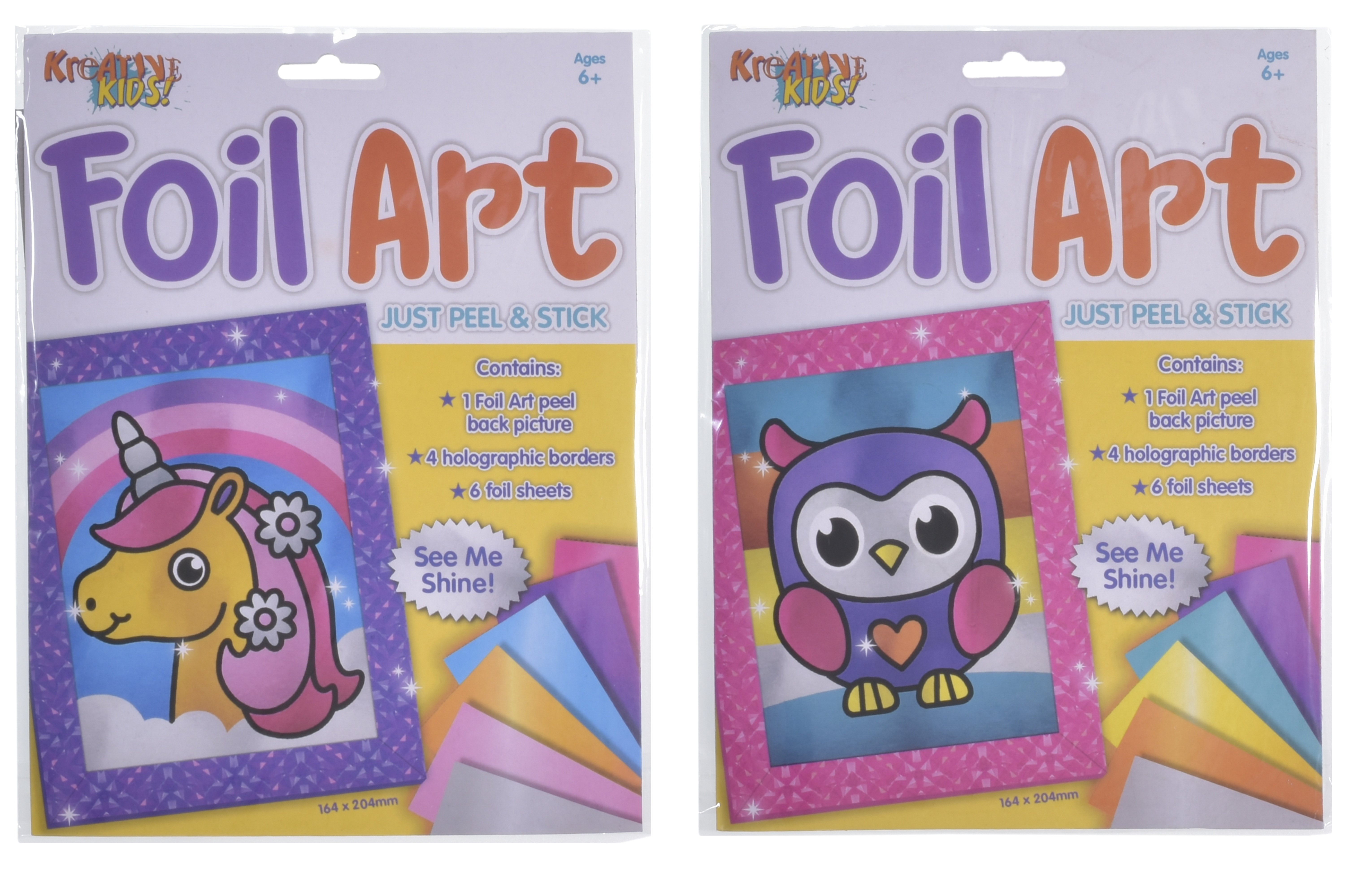 Foil Art Play Kits (4 Assorted) In Hanging Bag