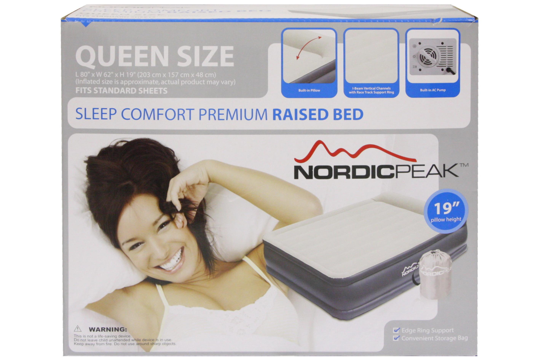Queen Sleep Comfort Premium Raised Bed W/ Pump