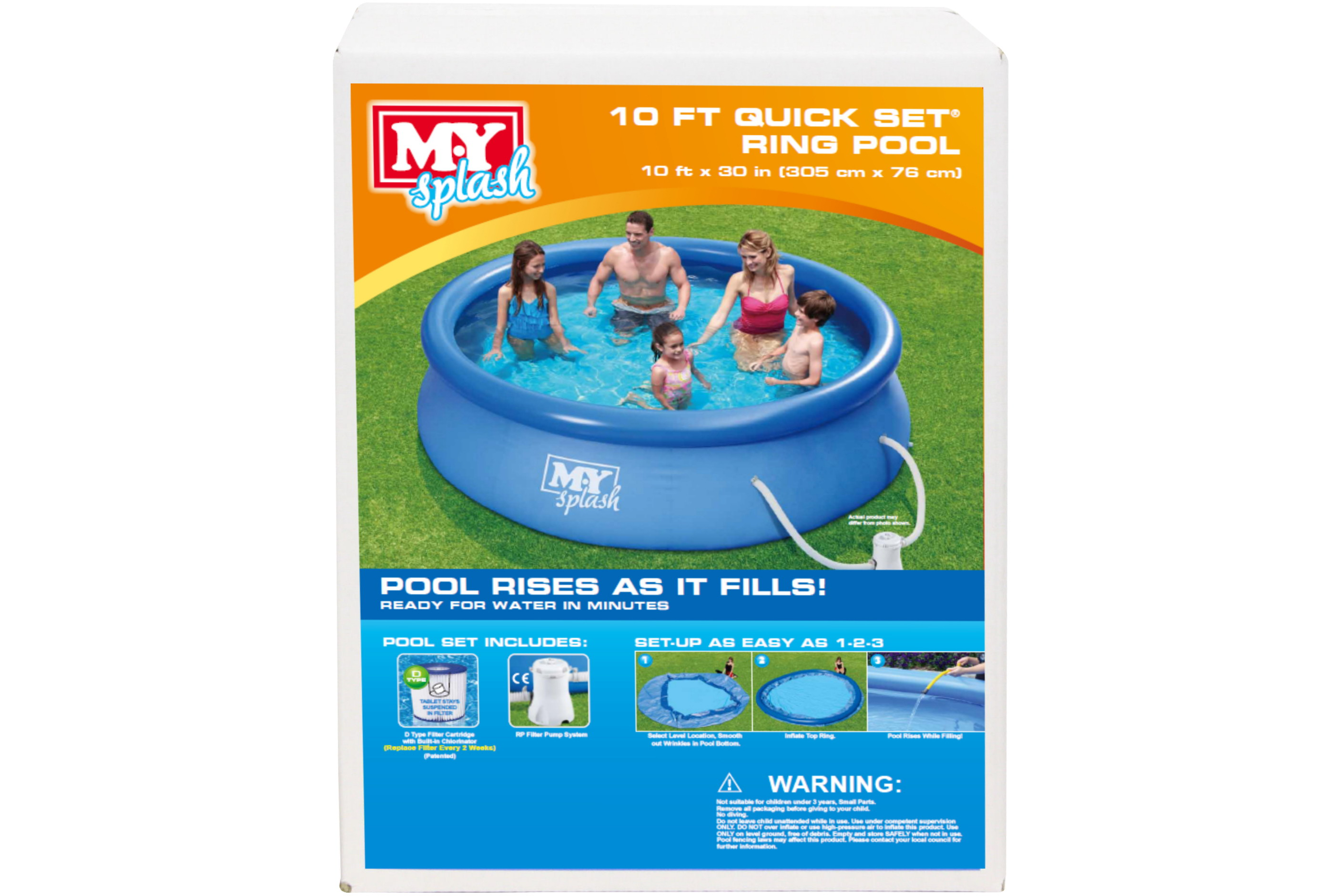 """10' x 30"""" Quick Set Ring Pool With Filter Pump"""