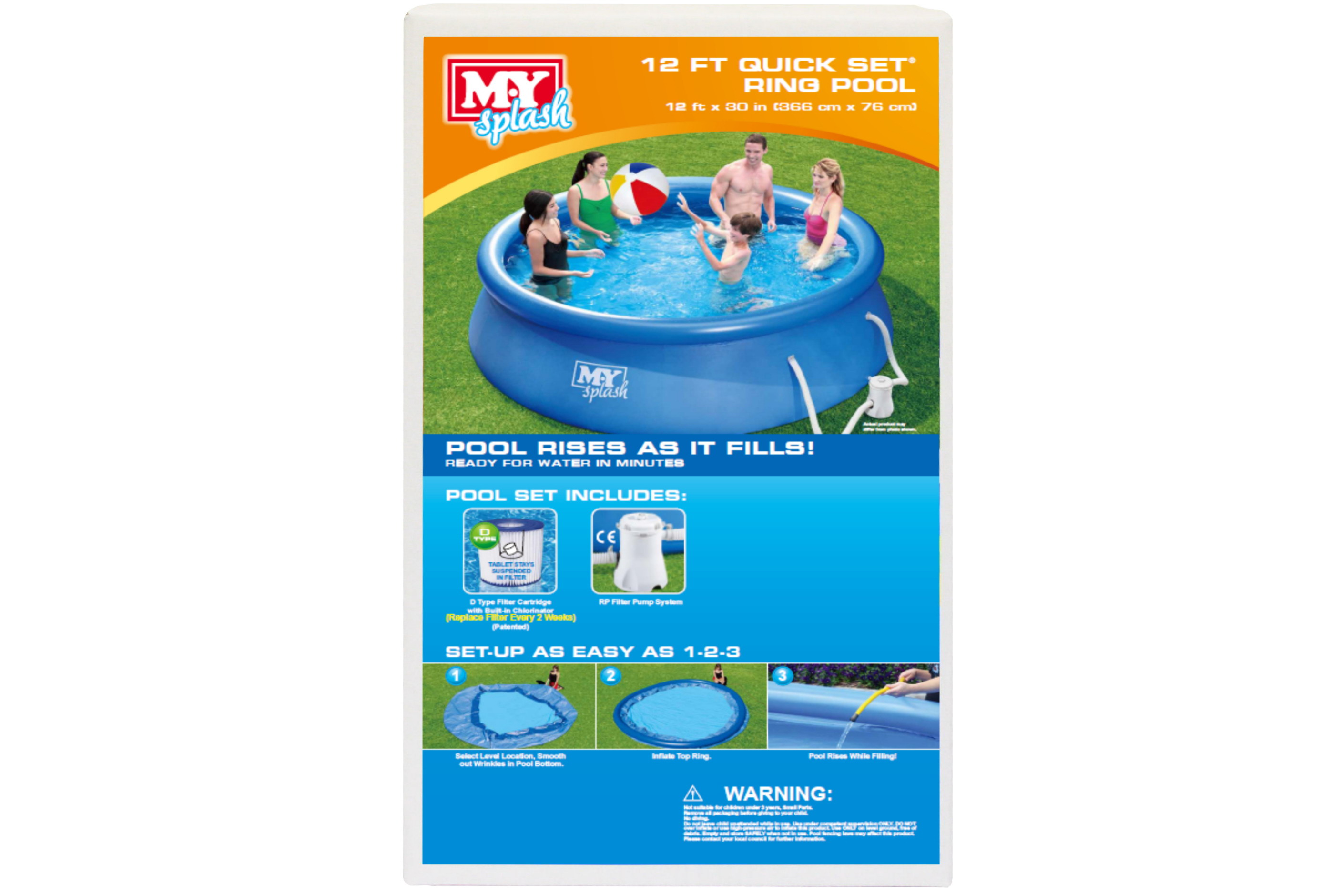 """12' x 30"""" Quick Set Ring Pool With Filter Pump"""