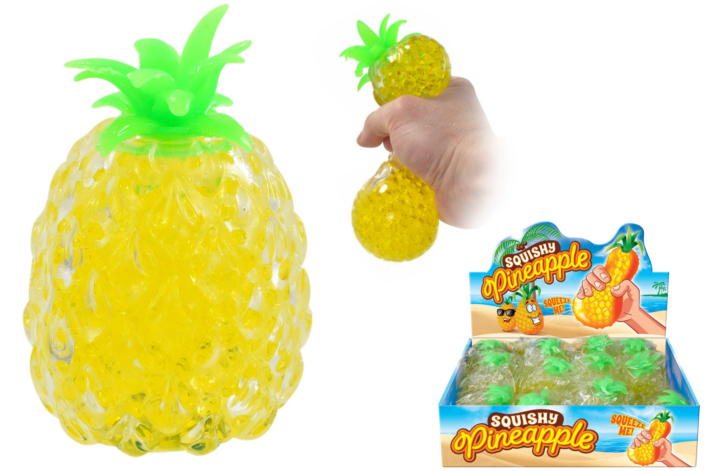 Squishy Bead Pineapple In Display Box