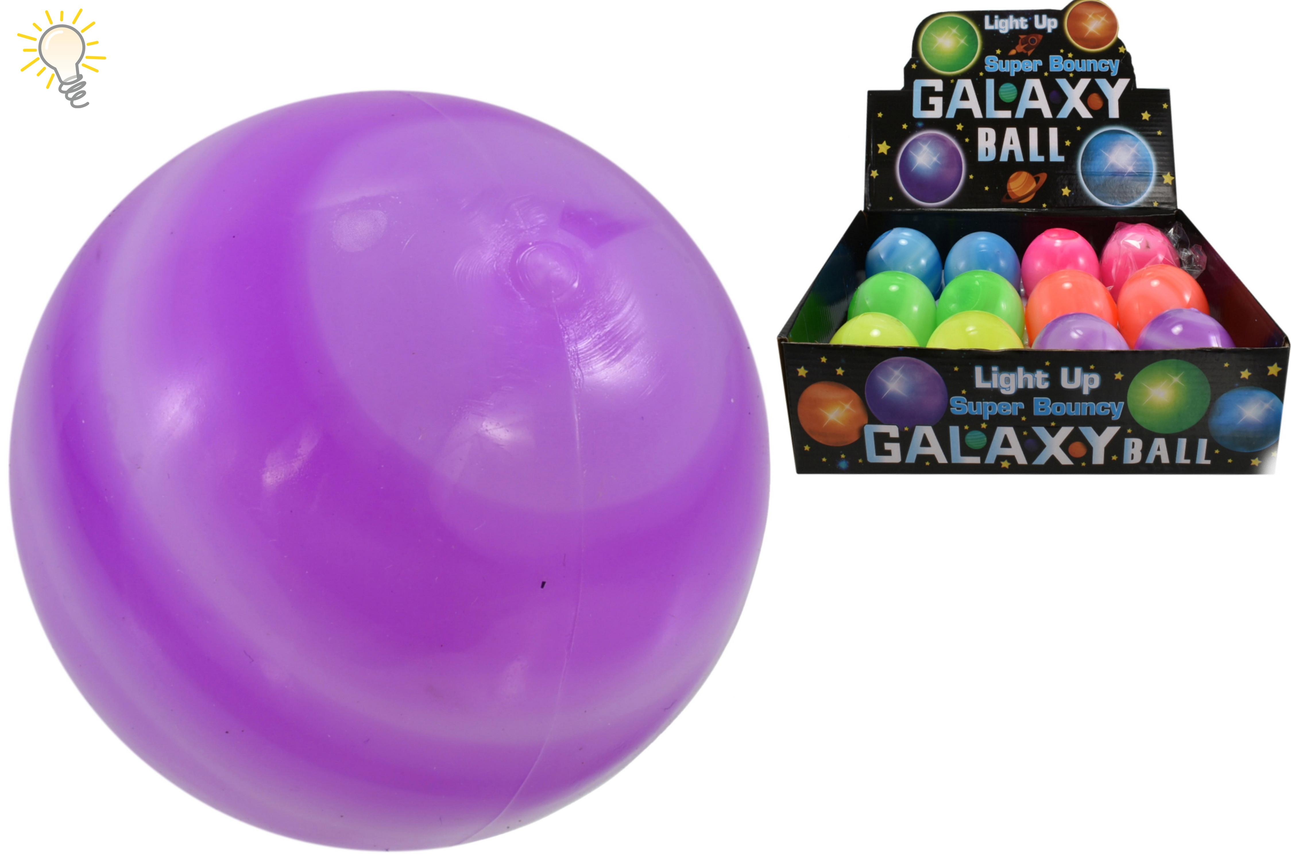 65mm Light Up Super Bouncy Galaxy Ball (6 Asst) In Dbx
