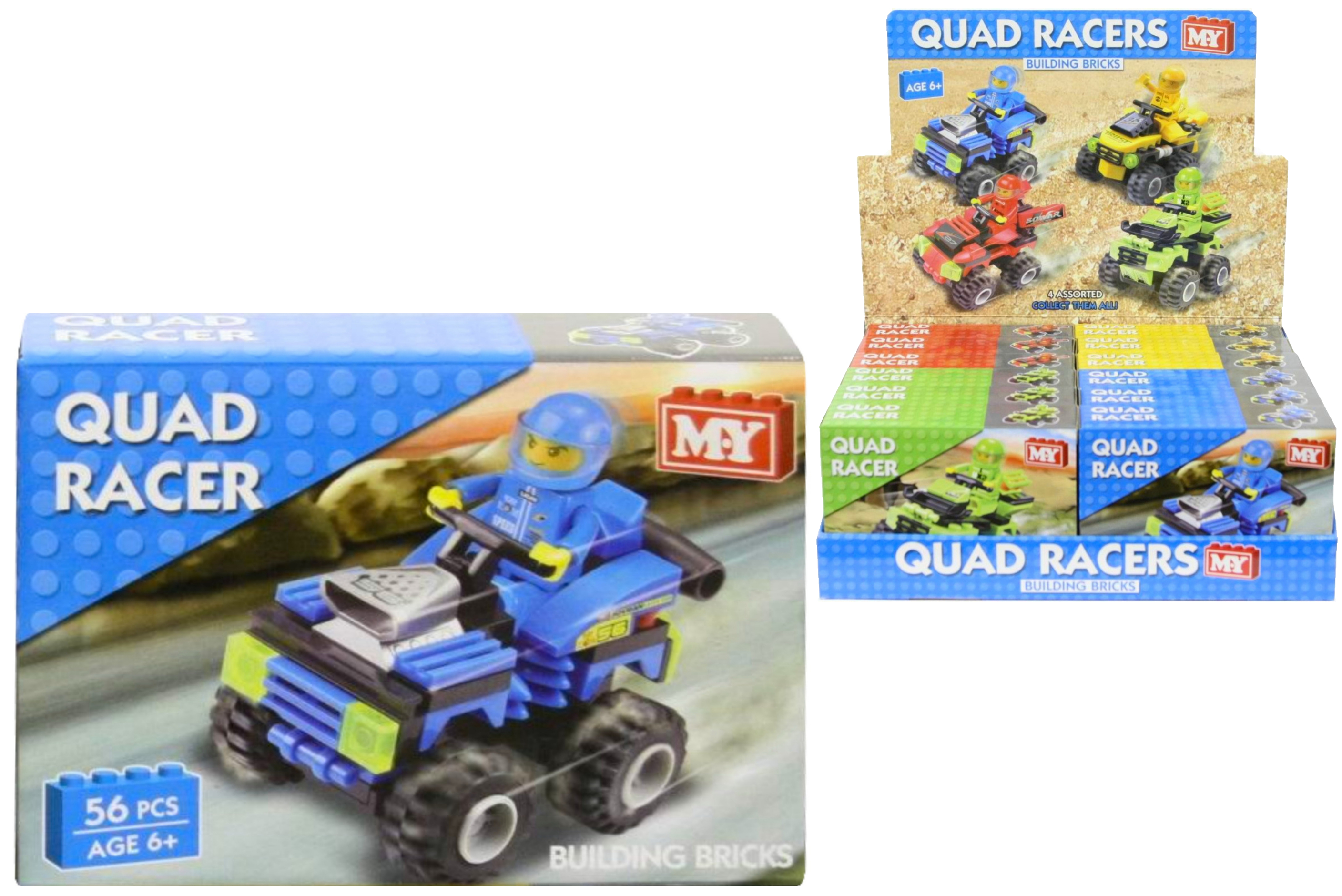 "Racing Quads Building Bricks - Four Asst - P/Bd/B ""M.Y"""