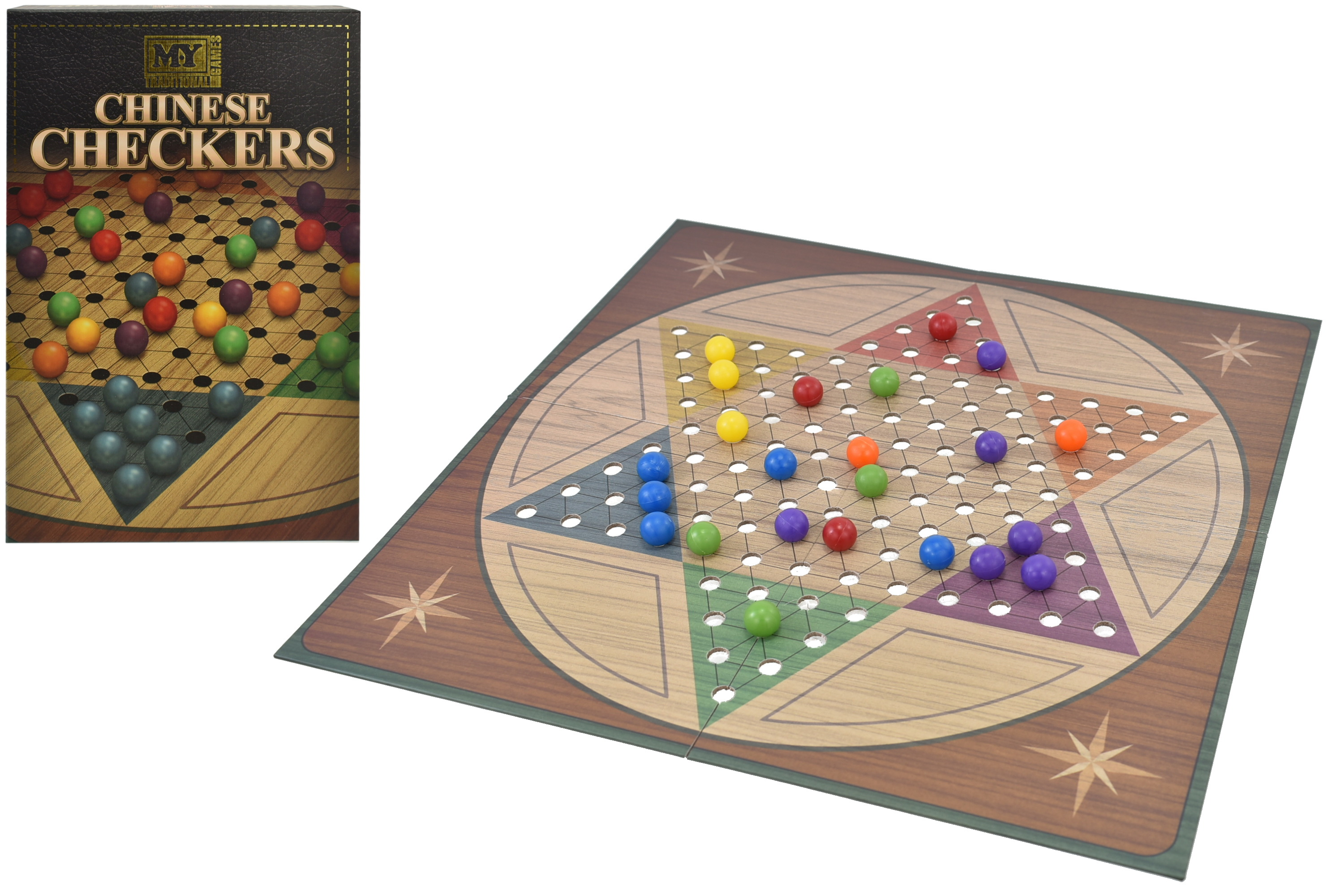 """Chinese Checkers Game In Colour Box """"M.Y"""""""