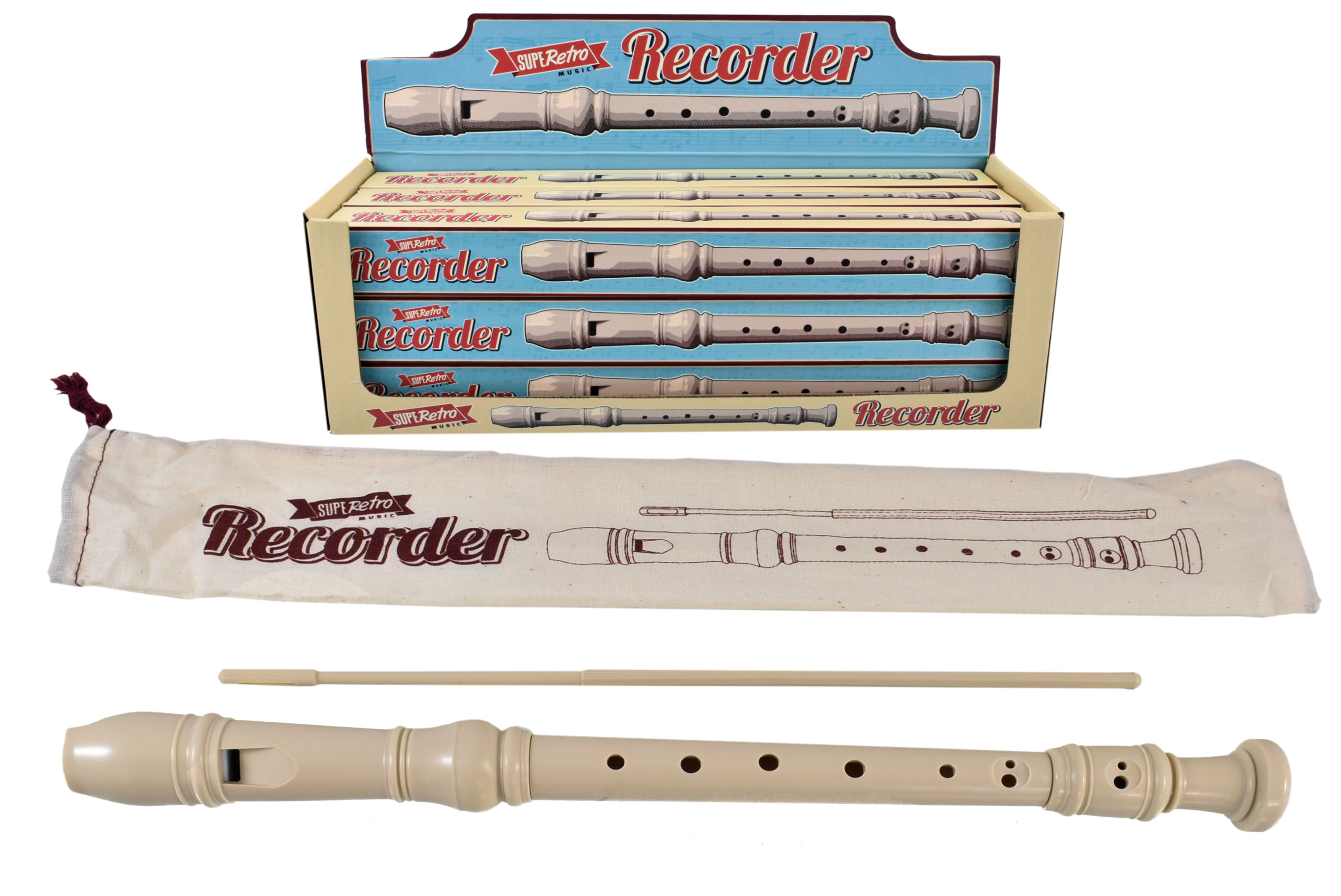 Recorder In Colour Box & Display Box