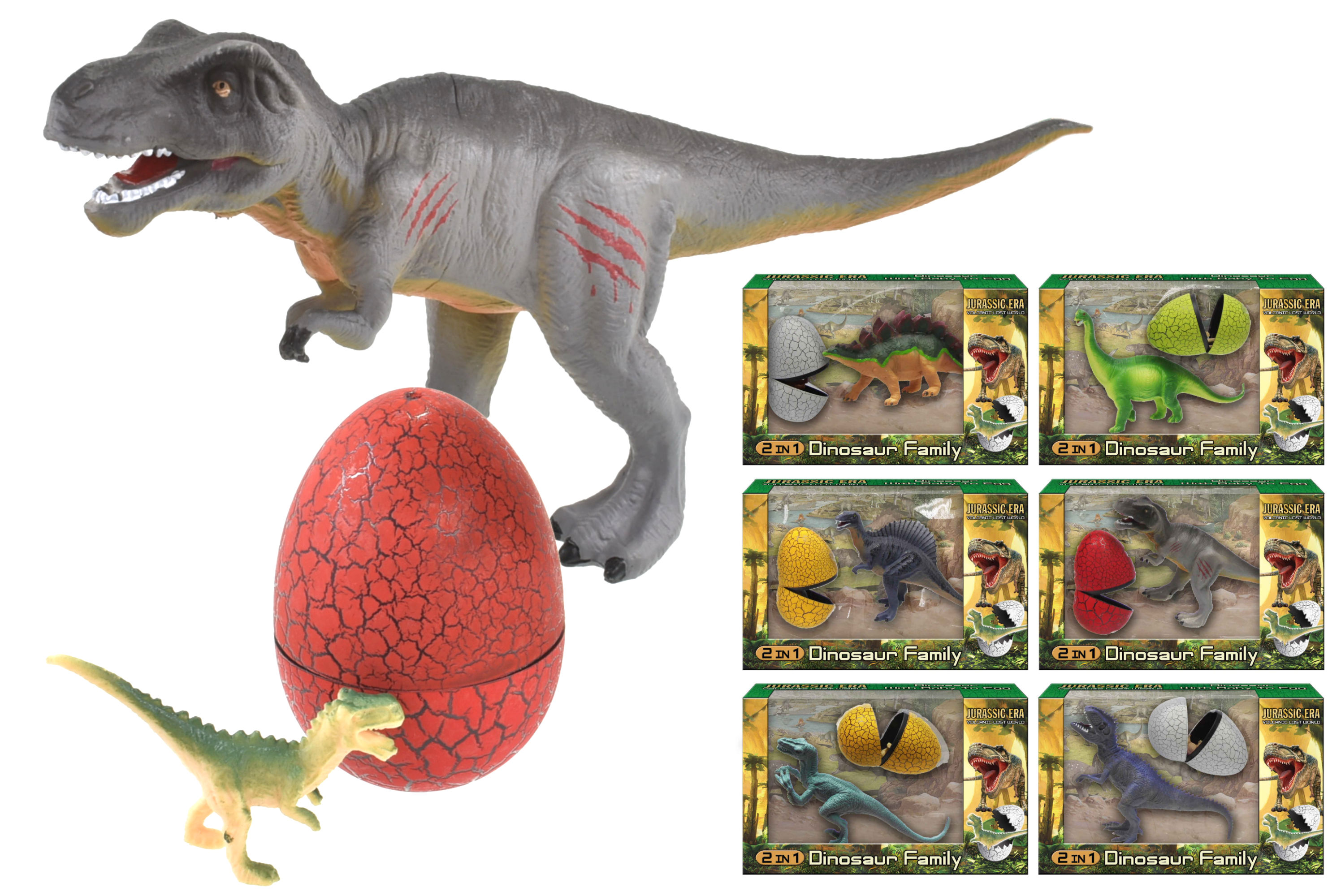 Dinosaur Family In Egg (6 Assorted)