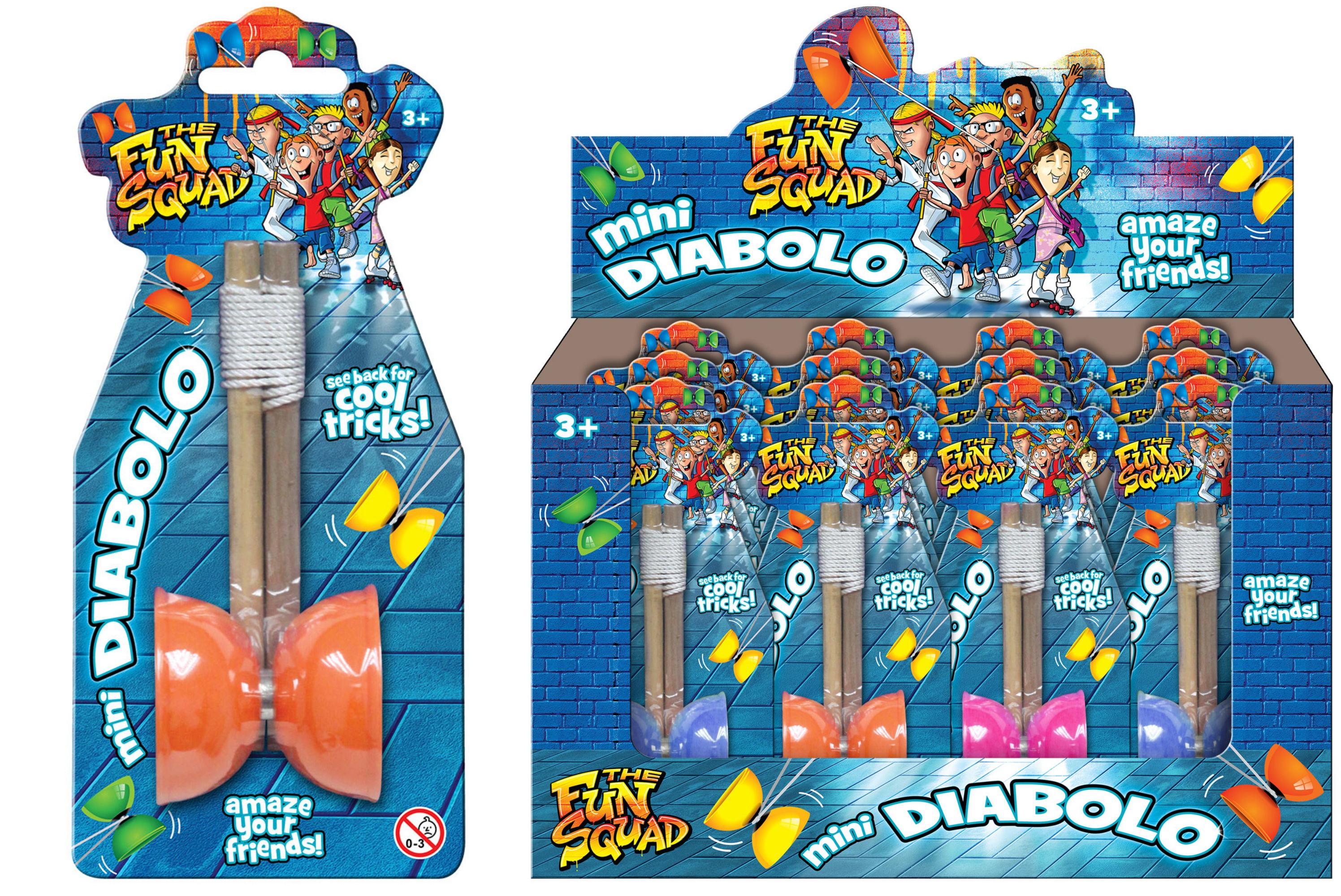 "Mini Diabolo On Blistercard ""Schools Out"" Dbx"