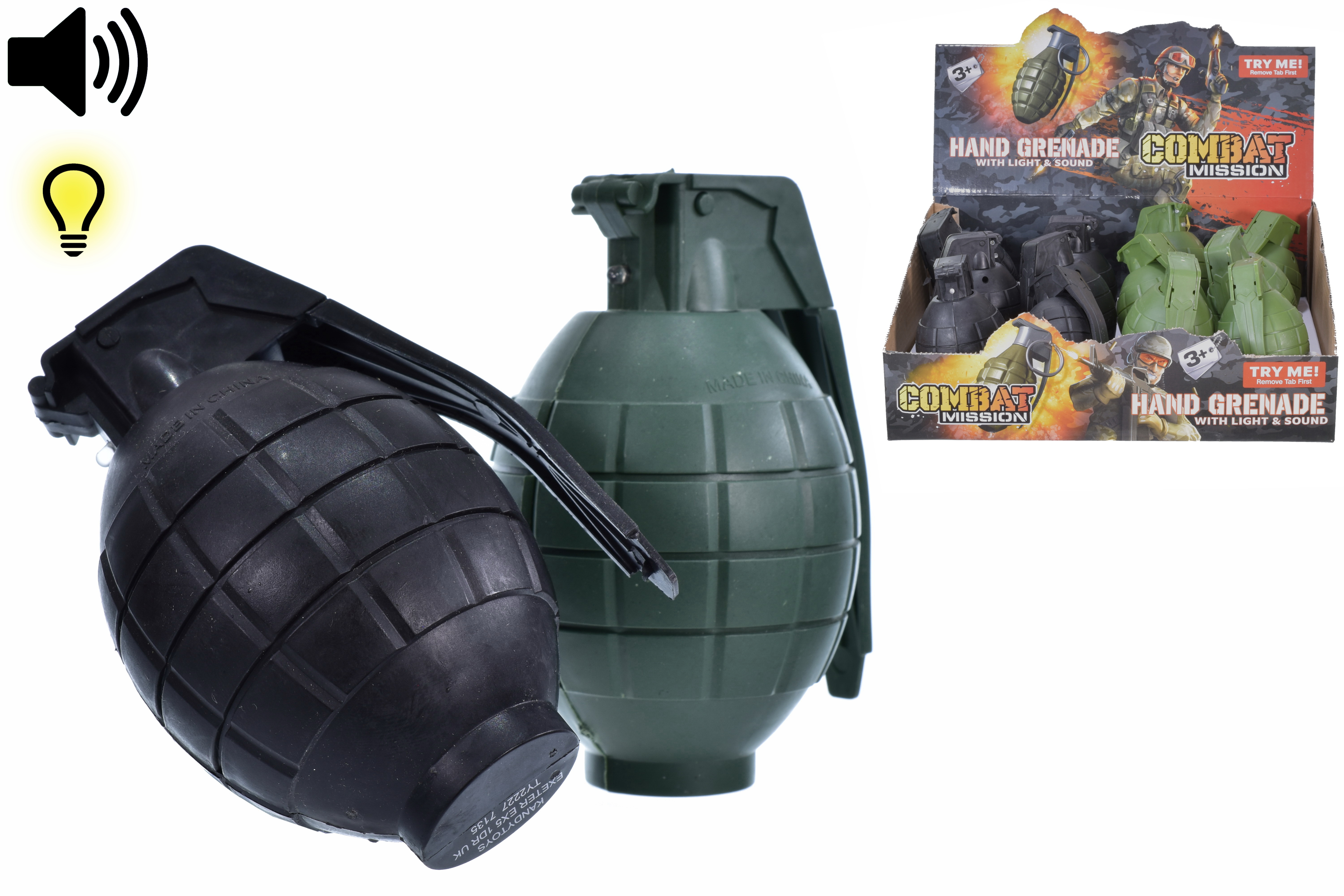 "Hand Grenade With Sound & Light In Dbx ""Combat Mission"""