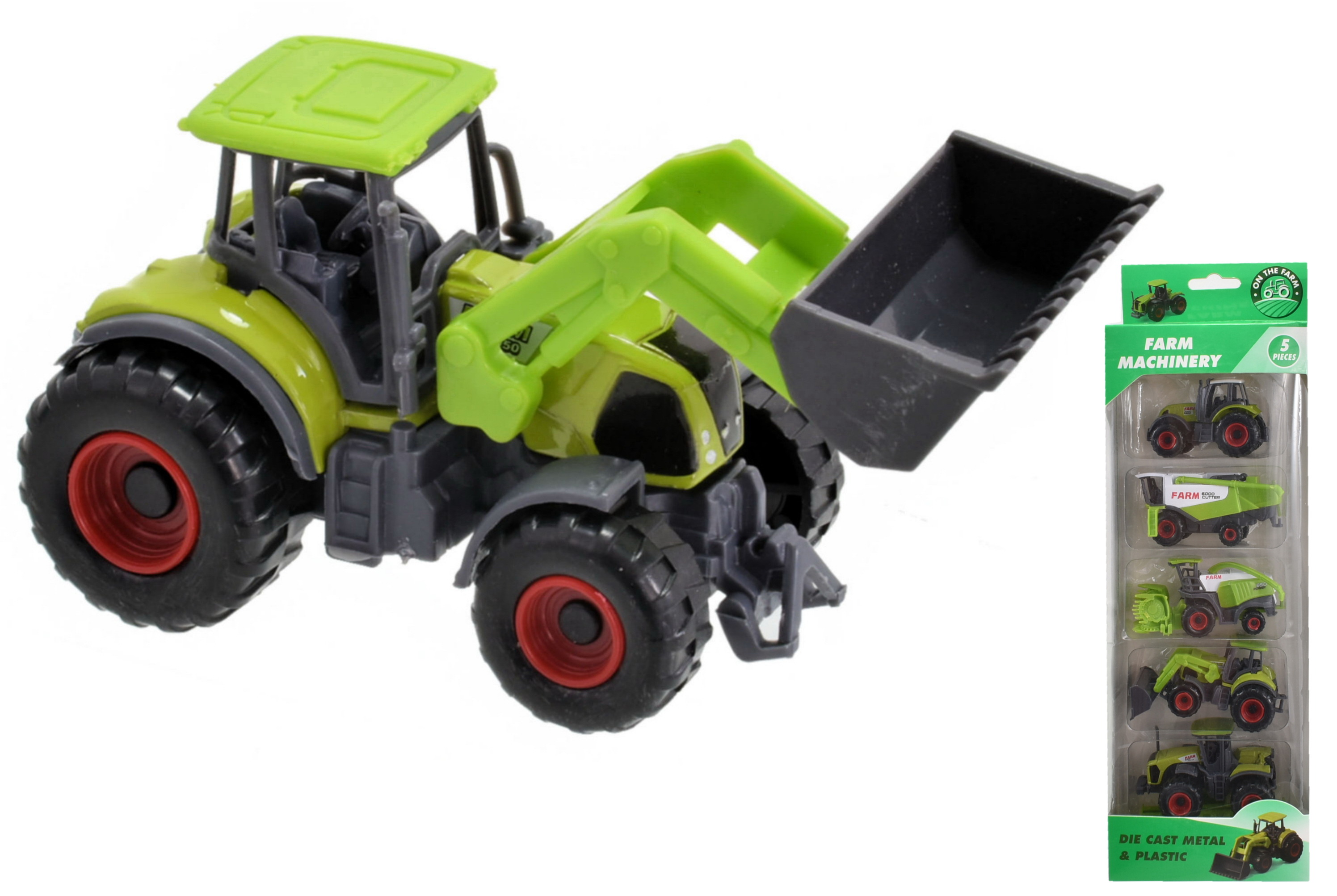 5pc Die Cast Farm Vehicles In Hanging Box