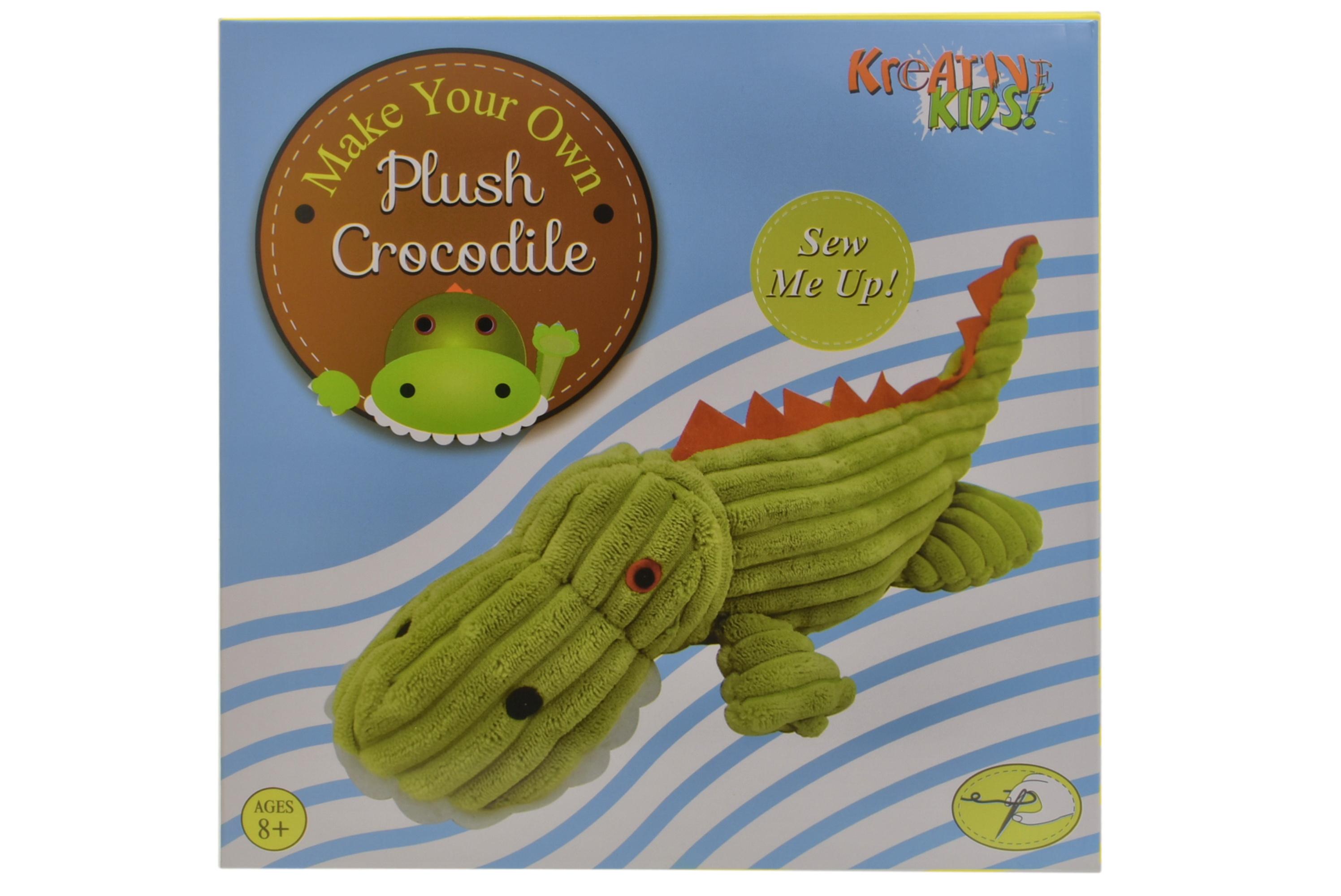 Make Your Own Plush Crocodile In Colour Box