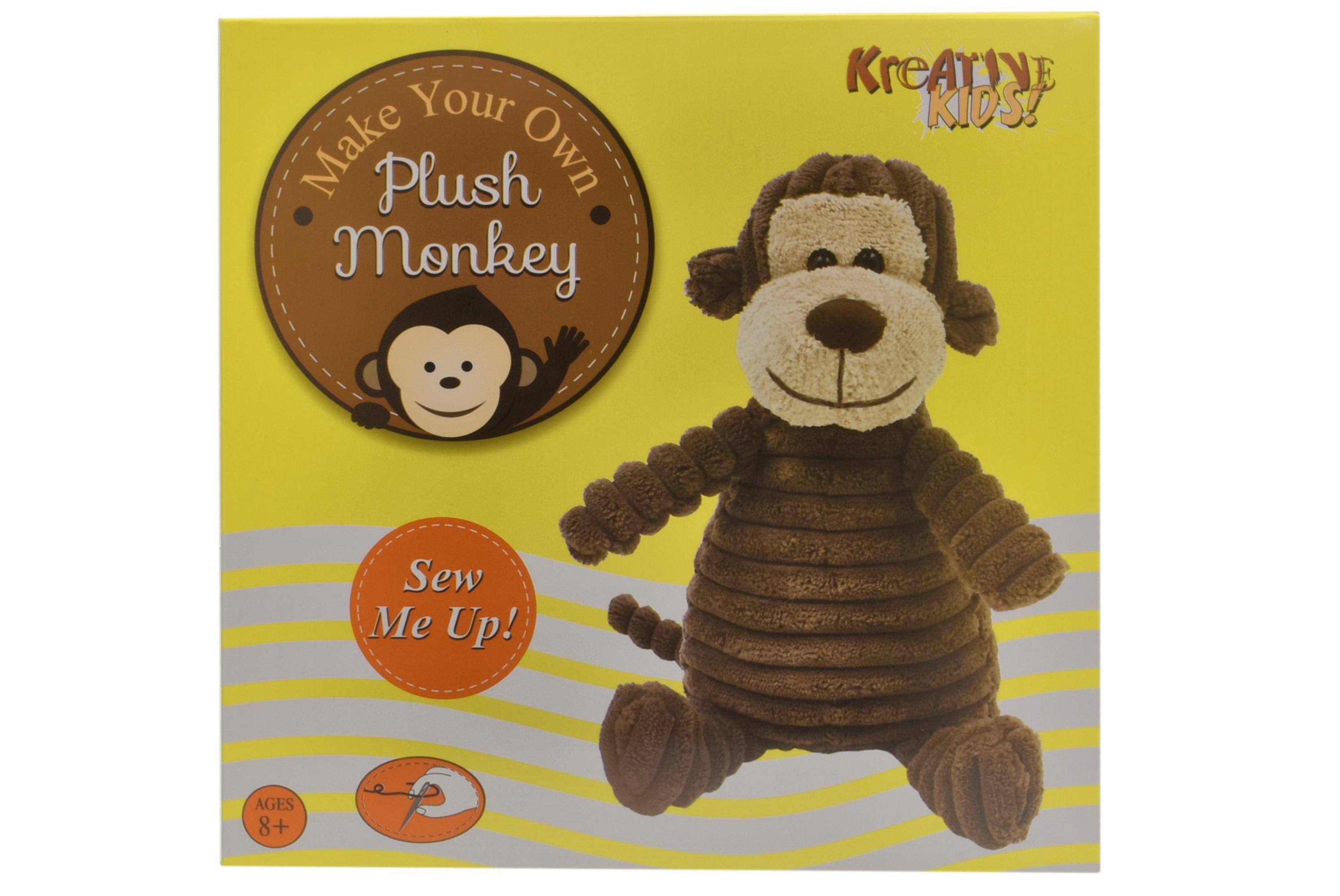 Make Your Own Plush Monkey In Colour Box