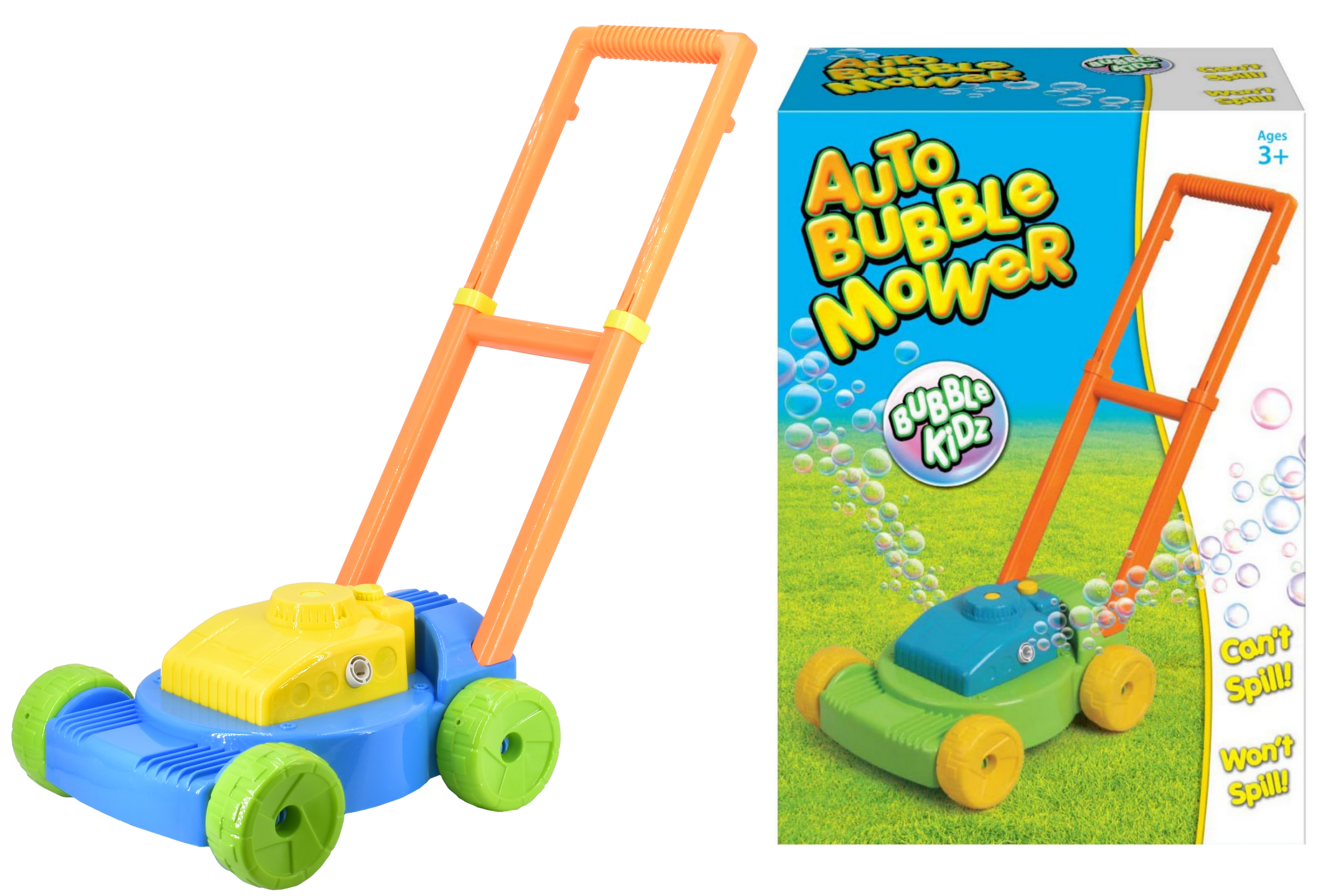 "Auto Bubble Mower & Bubbles In Colour Box ""Bubbles"""
