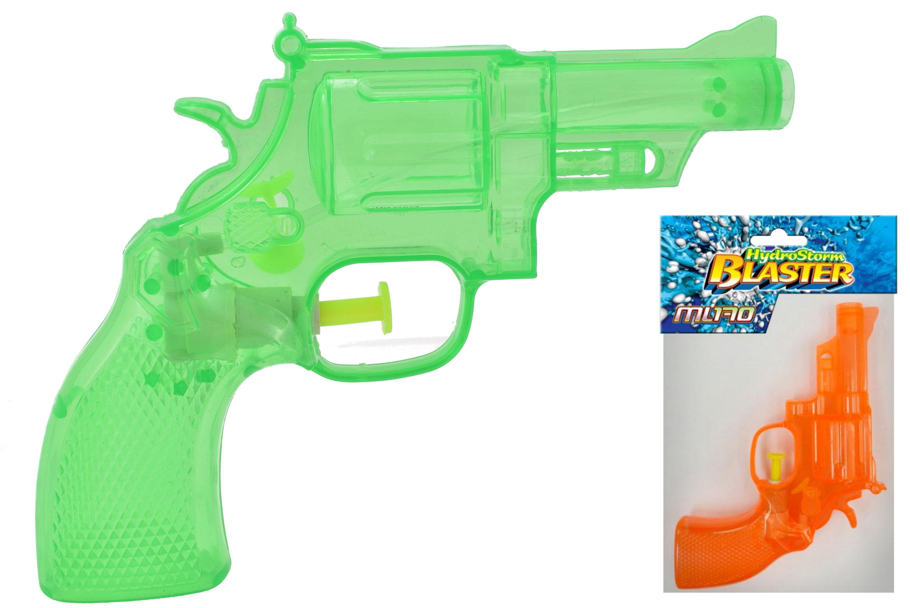"Neon Transparent Waterpistol 3 Asst Cols ""Hydrostorm"""