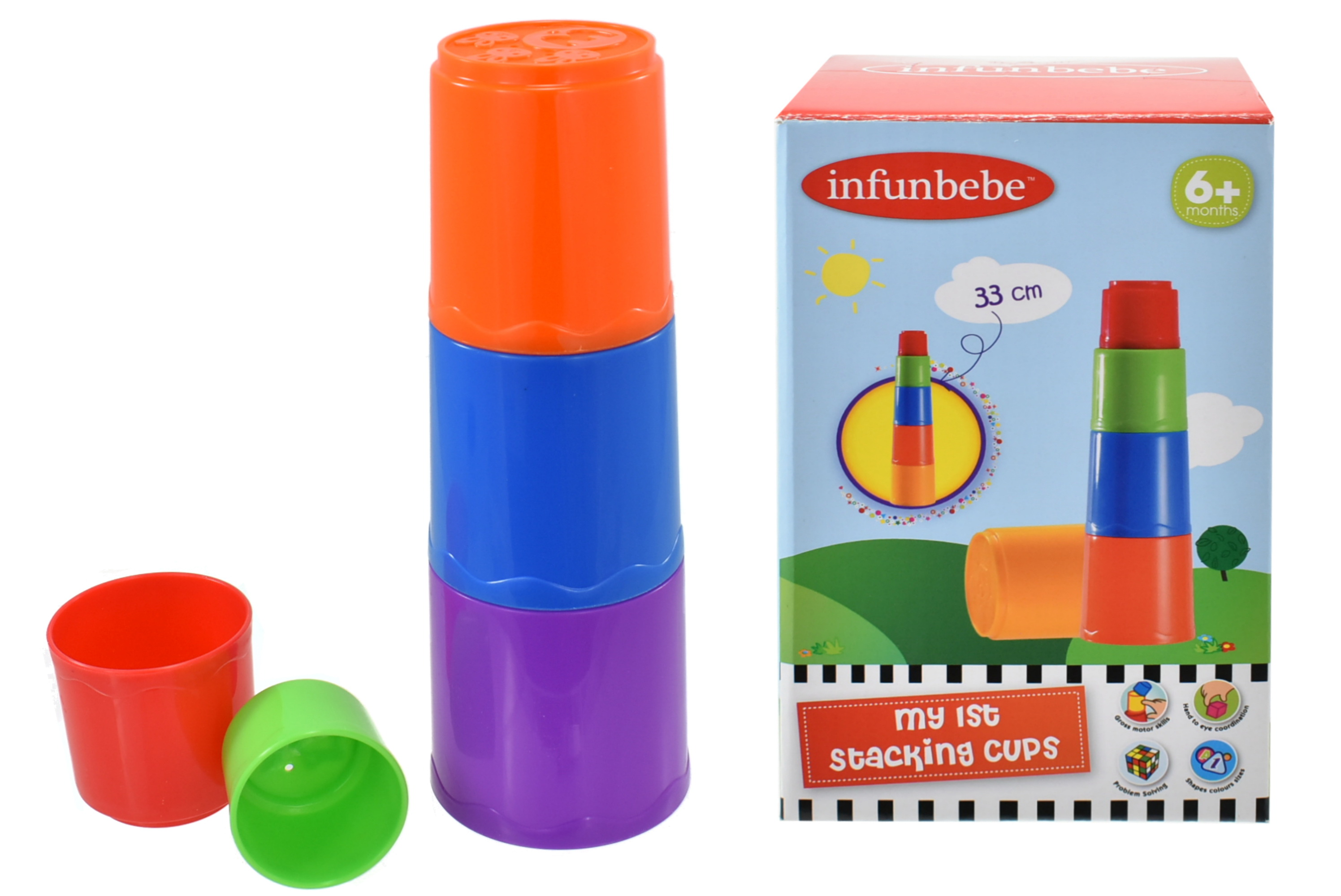 My First Stacking Cups In Colour Box - 6m+