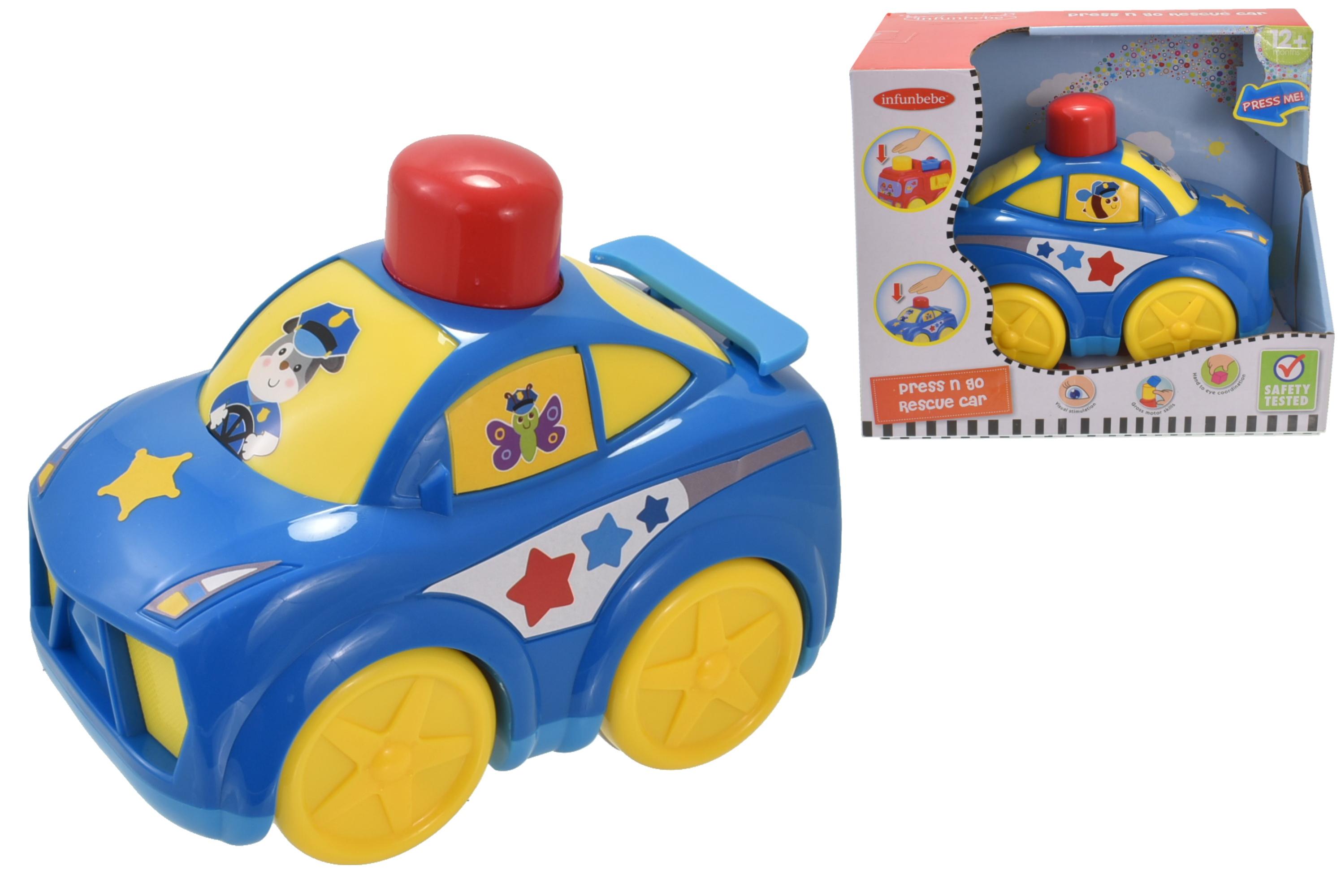 Press N Go Rescue Car In Open Touch Box - 12m+