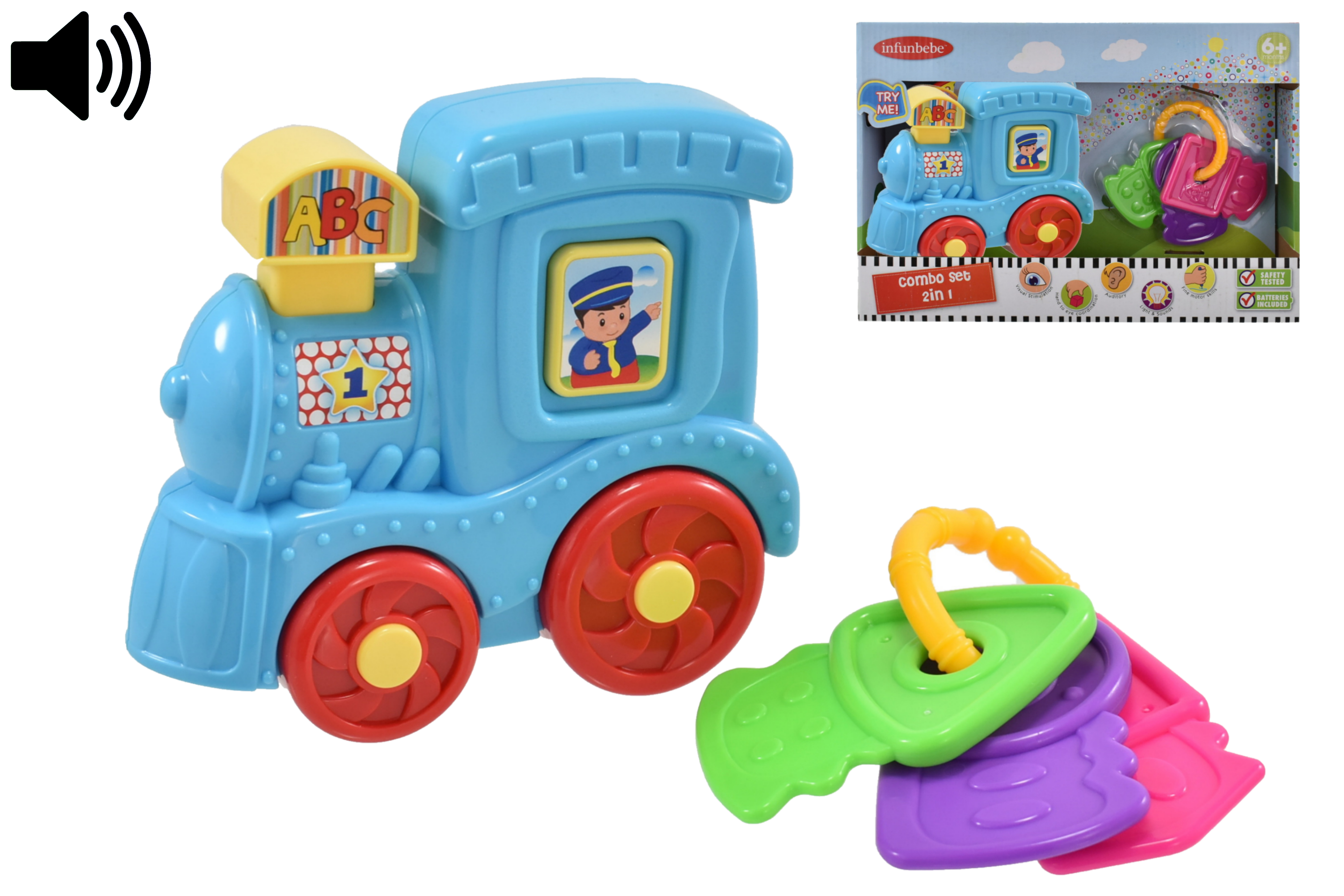 """Baby Combo Play Set """"Try Me"""" (Train) In Otb - 6m+"""