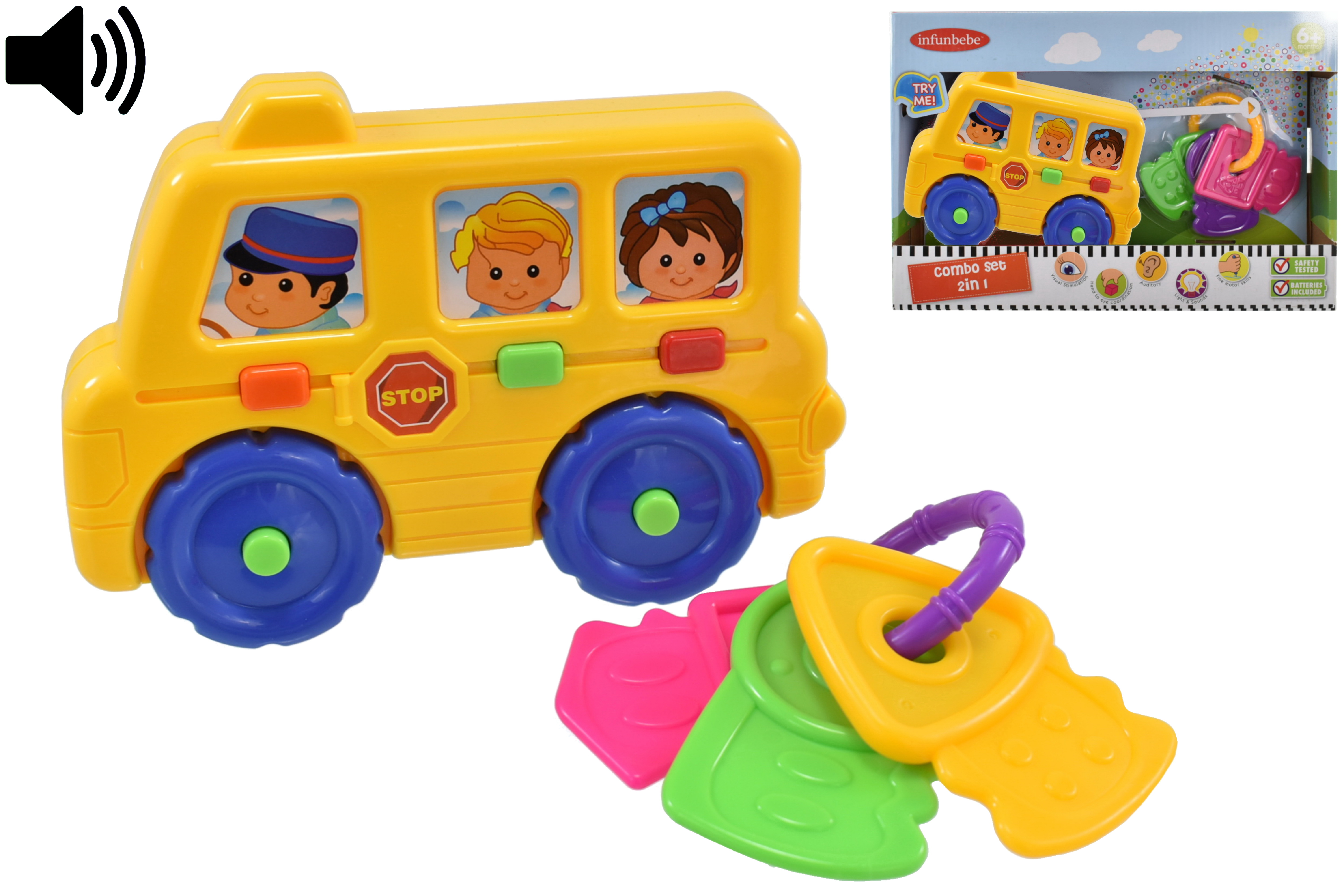 """Baby Combo Play Set """"Try Me"""" (Bus) In Otb - 6m+"""