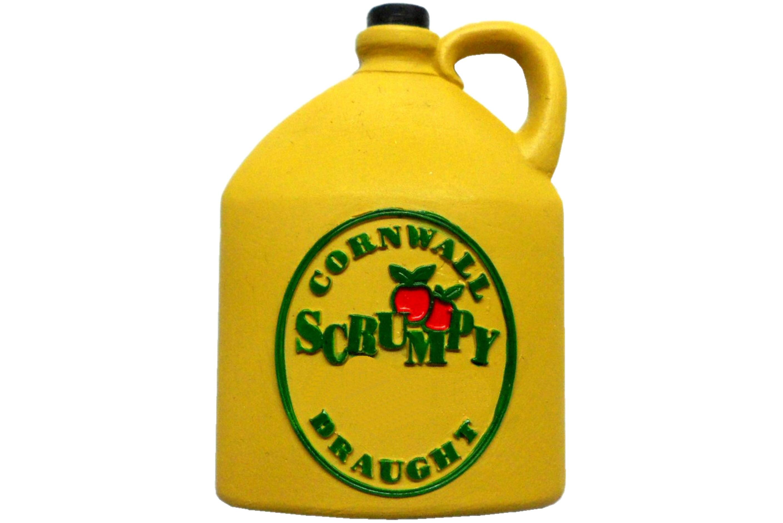 6.5cm x 5.5cm Scrumpy Bottle Magnet - Cornwall