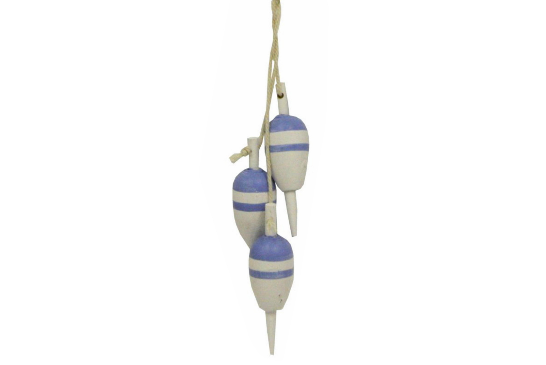 Wooden Nautical 3 Floats - 15cm