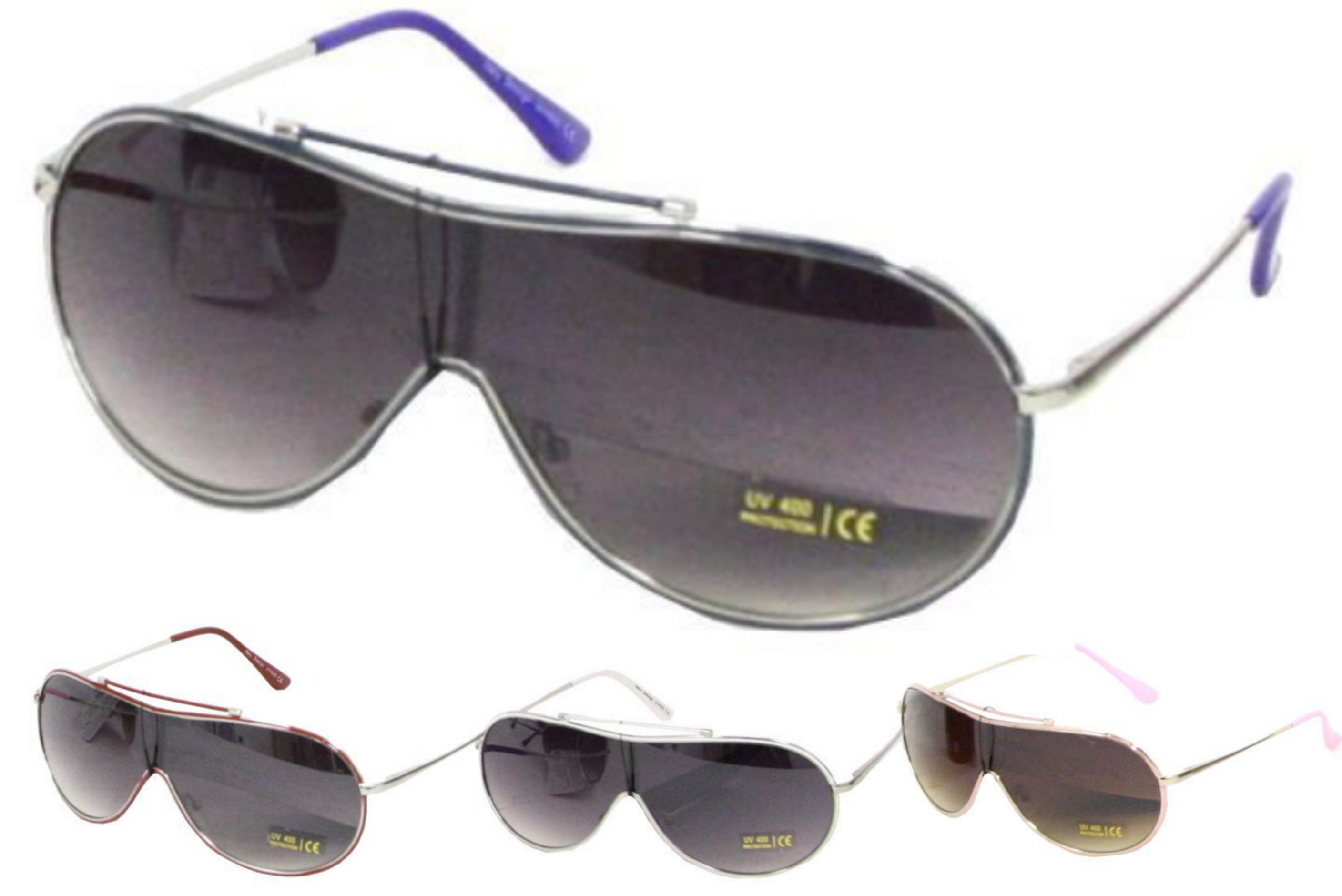 Ladies Metal Frame Designer Sunglasses - 4 Assorted