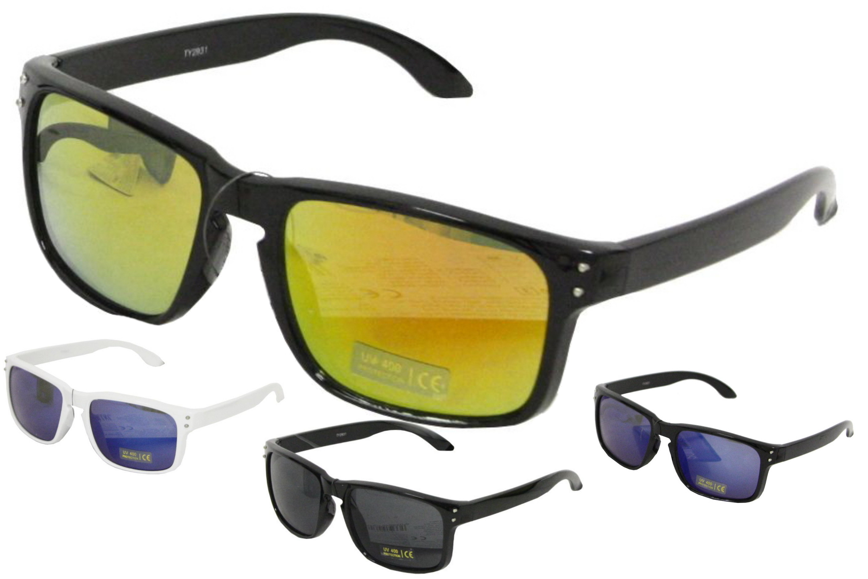 Adult Plastic Designer Sunglasses - 4 Assorted