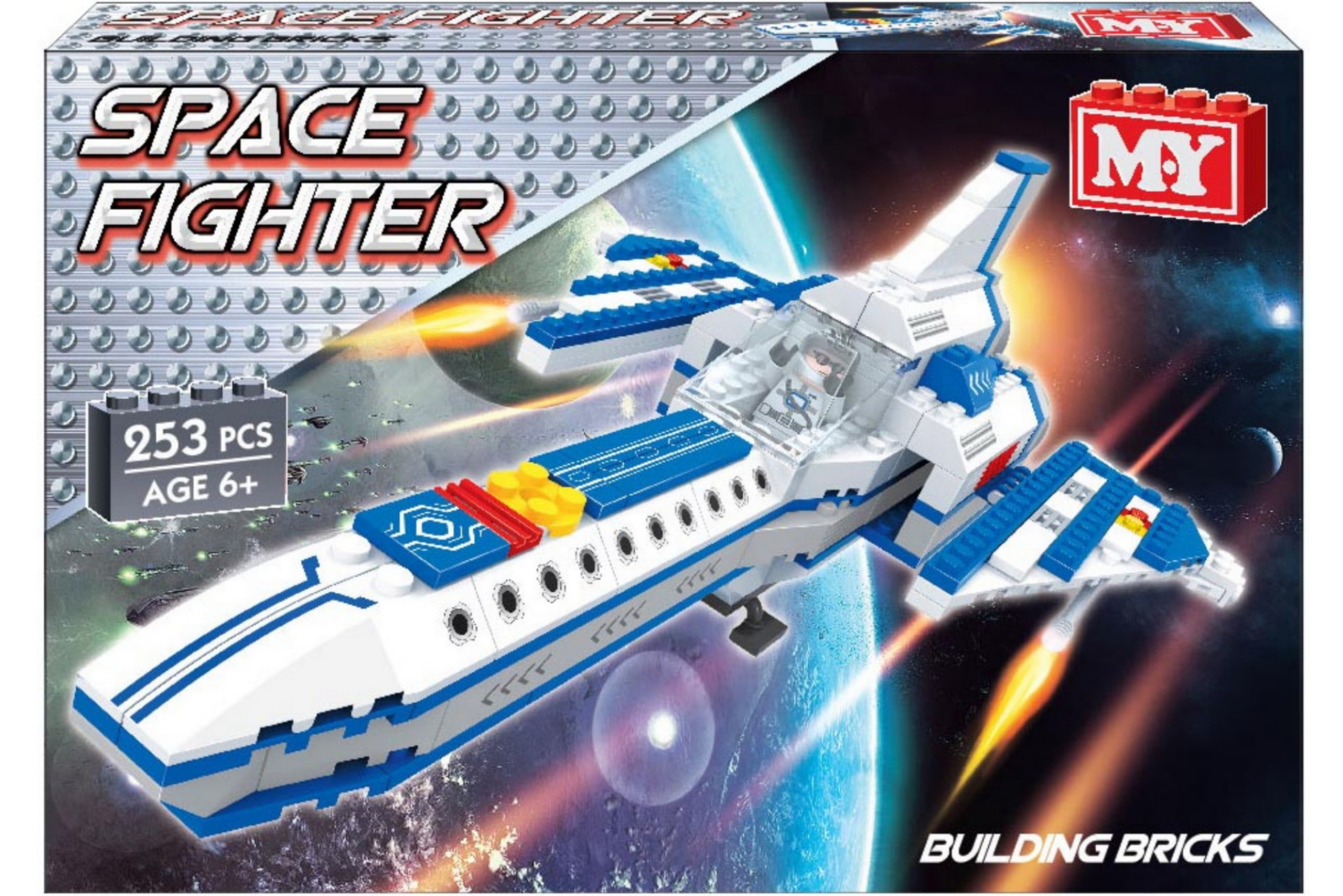 "253pc Space Fighter Brickset ""M.Y"""