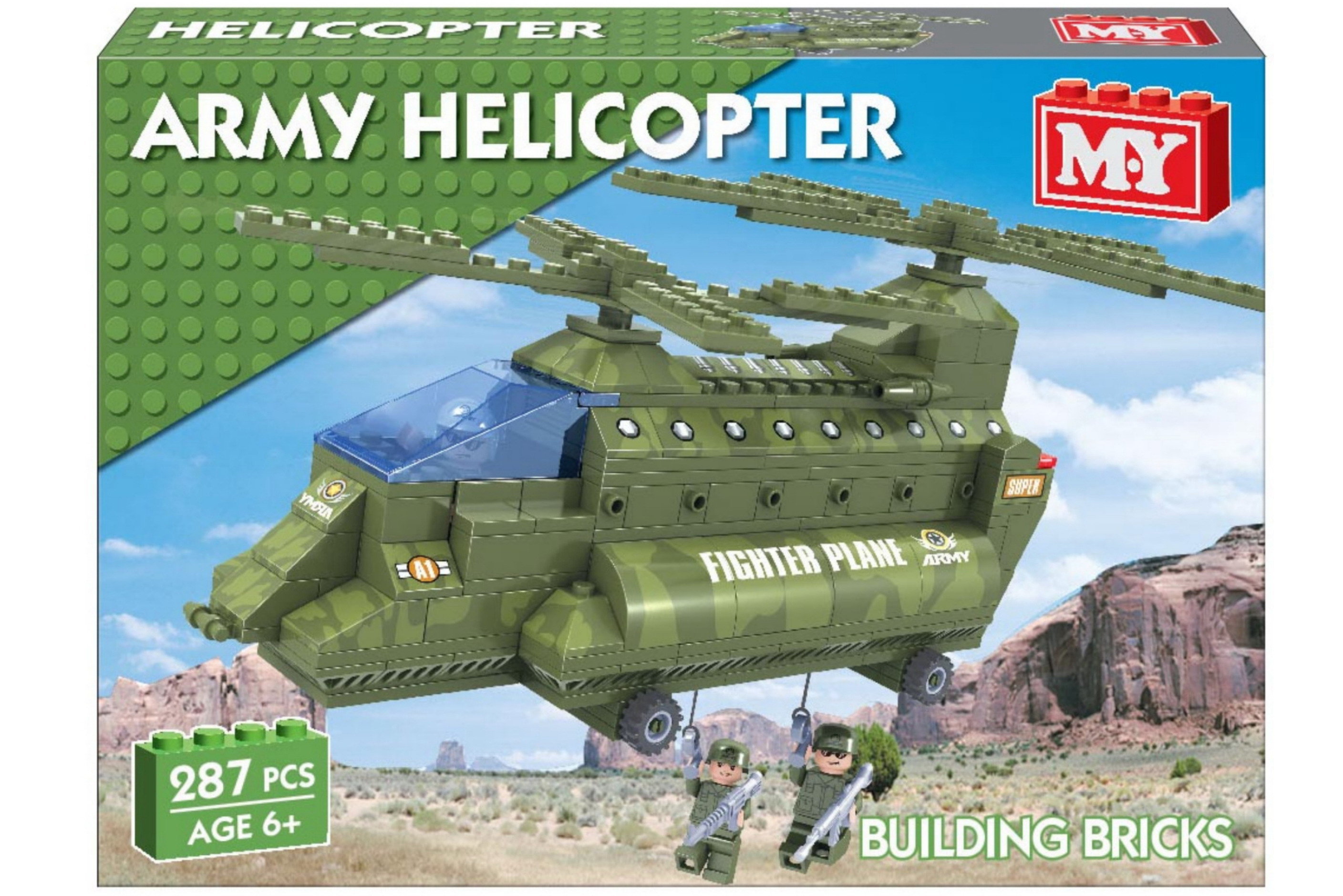"287pc Army Helicopter Brickset ""M.Y"""