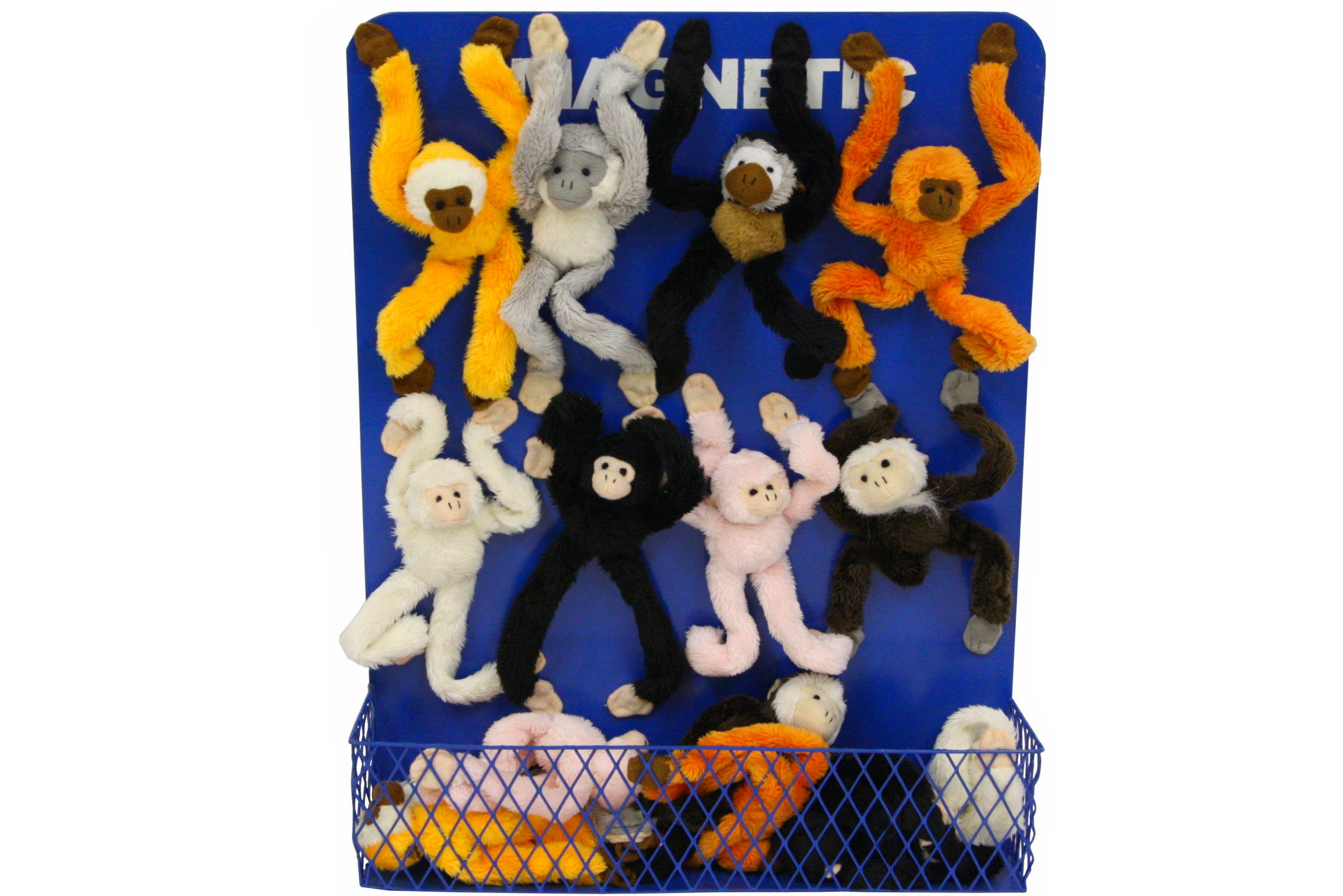 Monkey Magnets With Magnetic Display Stand - 8 Assorted