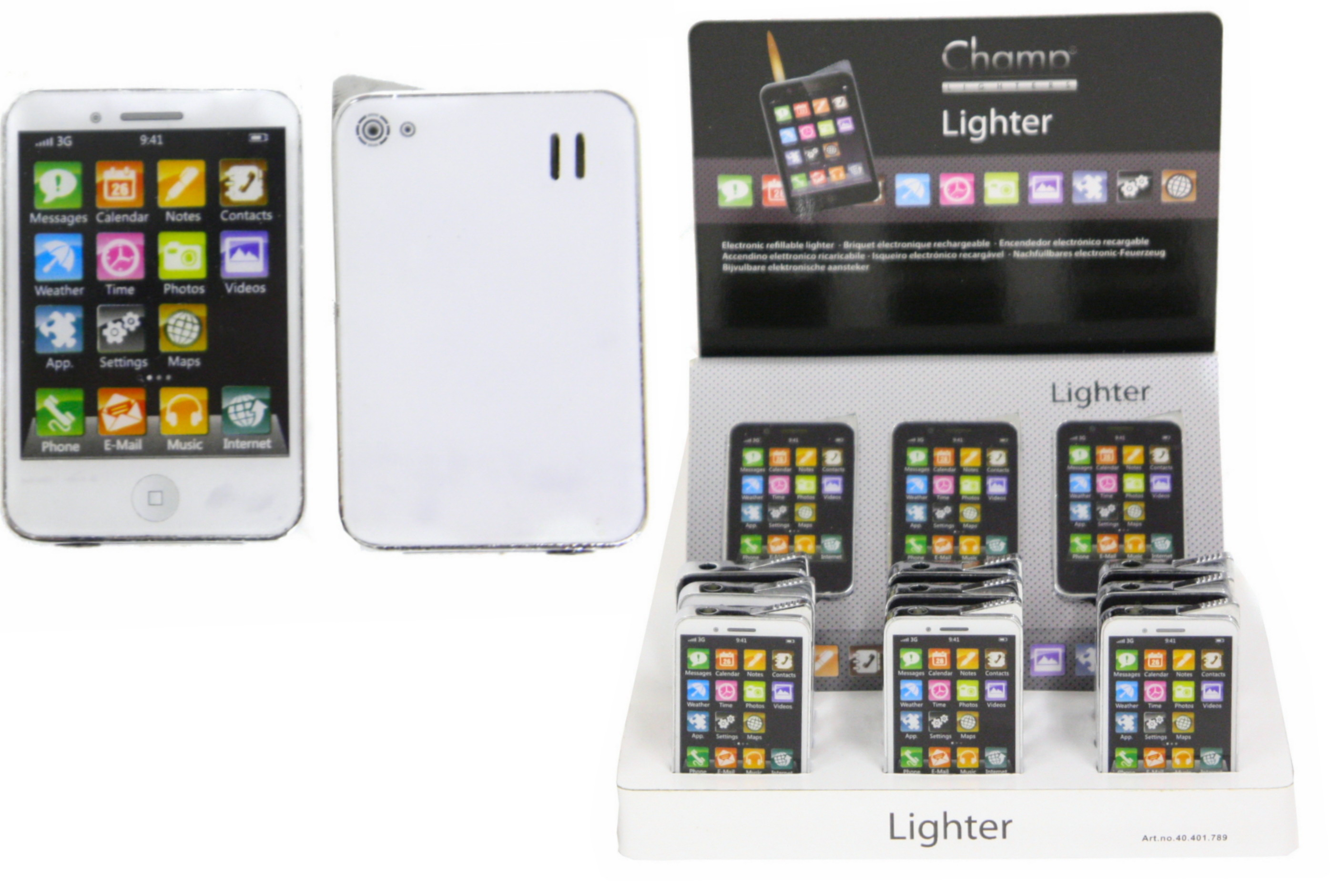 Smart Phone Metal Lighter In Display Box
