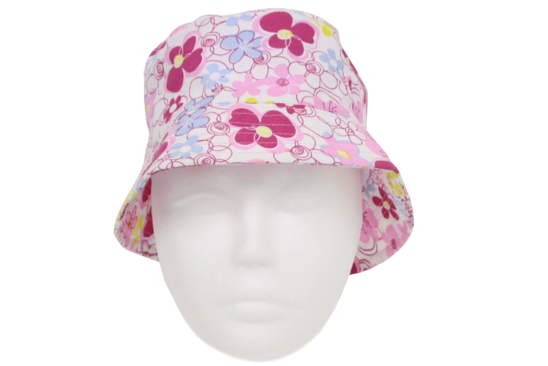 Ladies Flower Bucket Hat 2 Asst Colours
