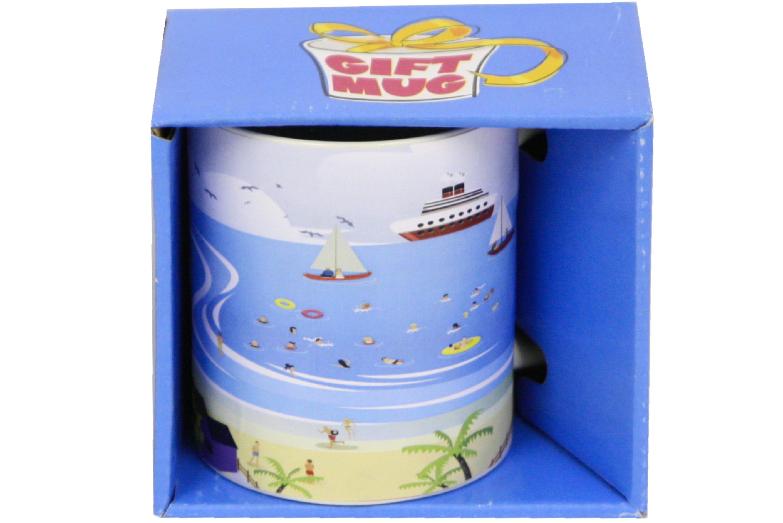 Seaside Scene Mug Gift Boxed