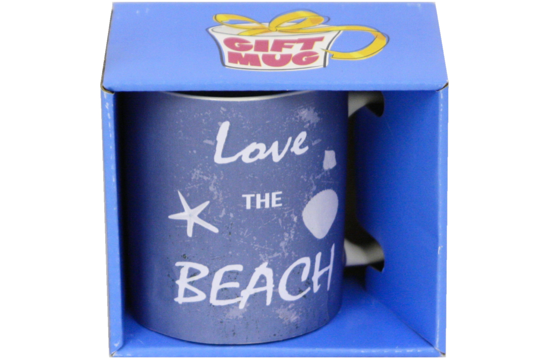 Love The Beach Mug Gift Boxed