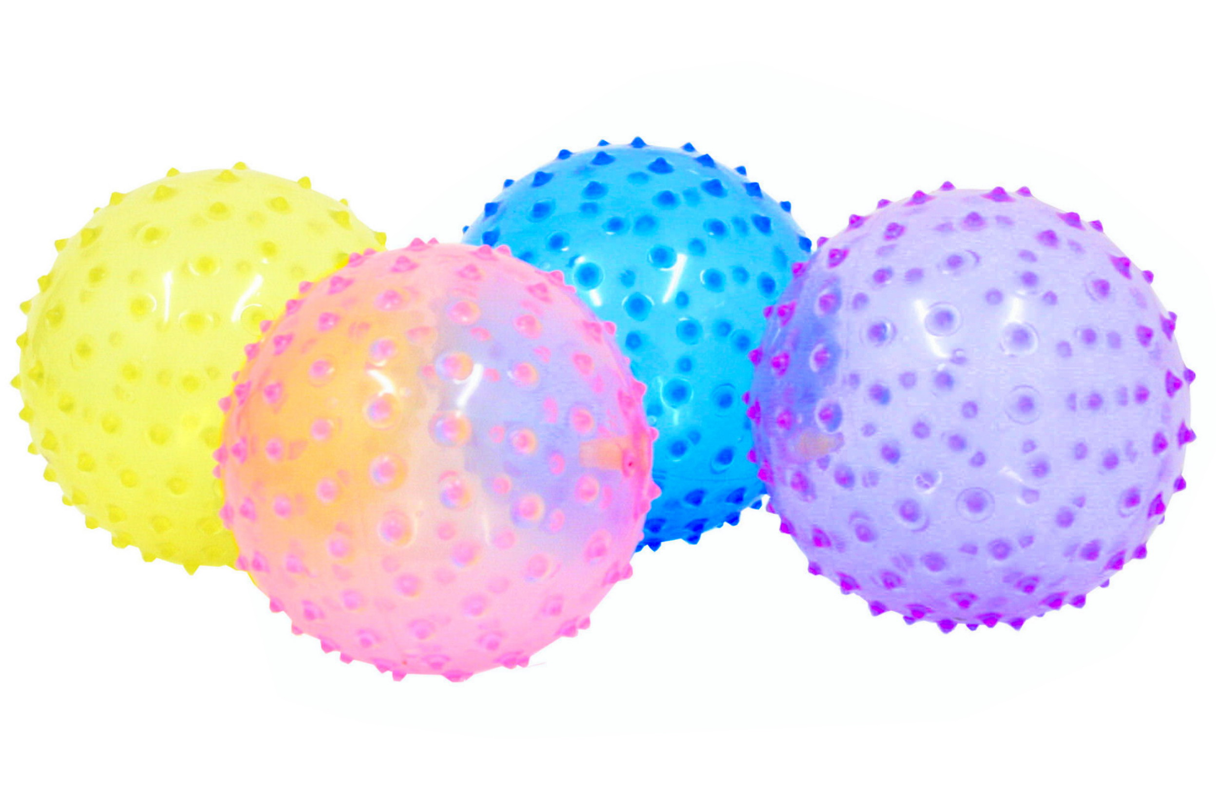 "Transparent Spike Balls (Deflated) Asst Colours 6""/70g"