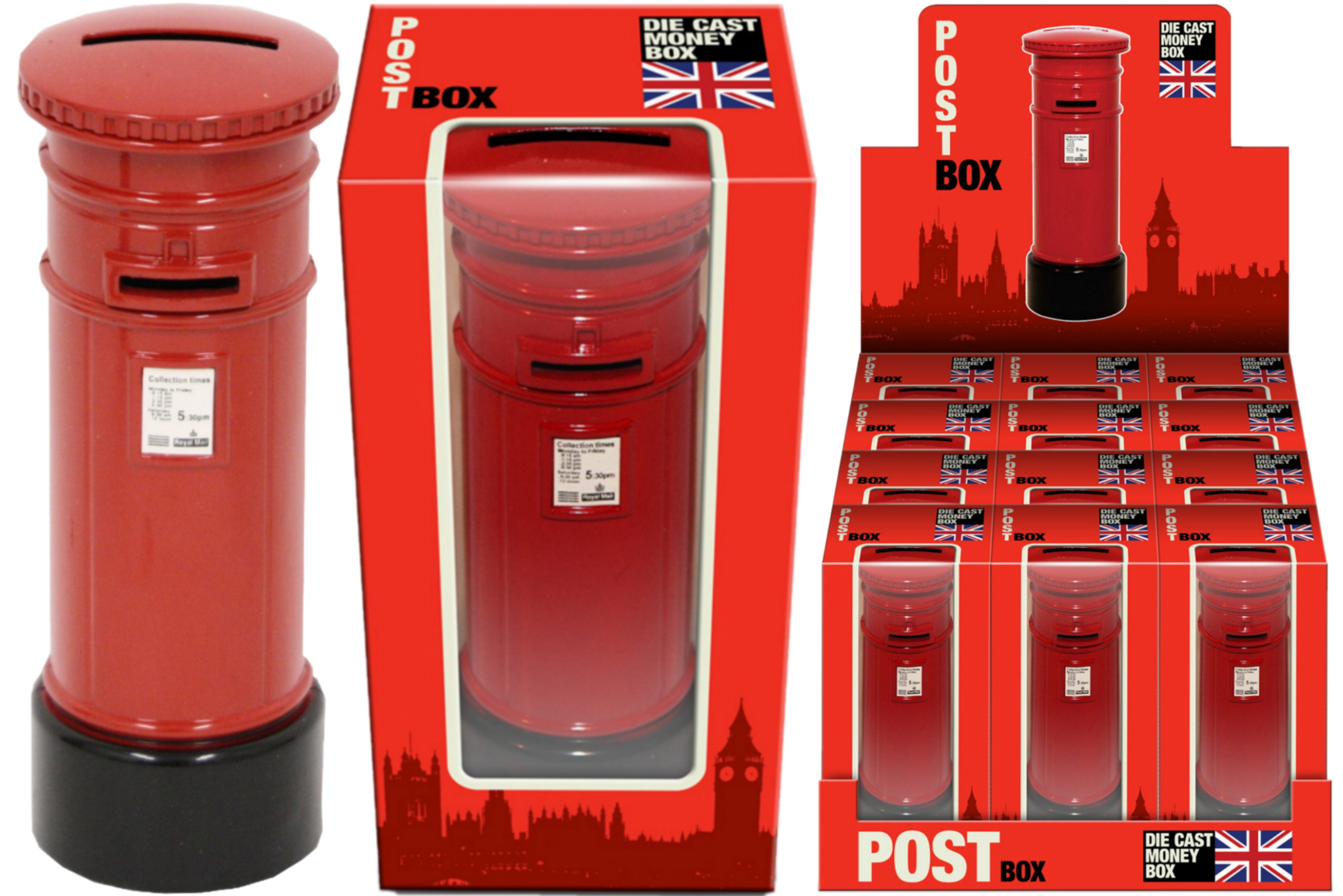 Die Cast Post Box Money Box In Display Box