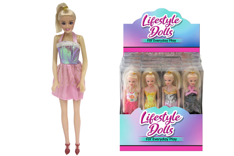 Fashion Doll In Acetate Box 4 Asst D/Box Its Girl Stuff