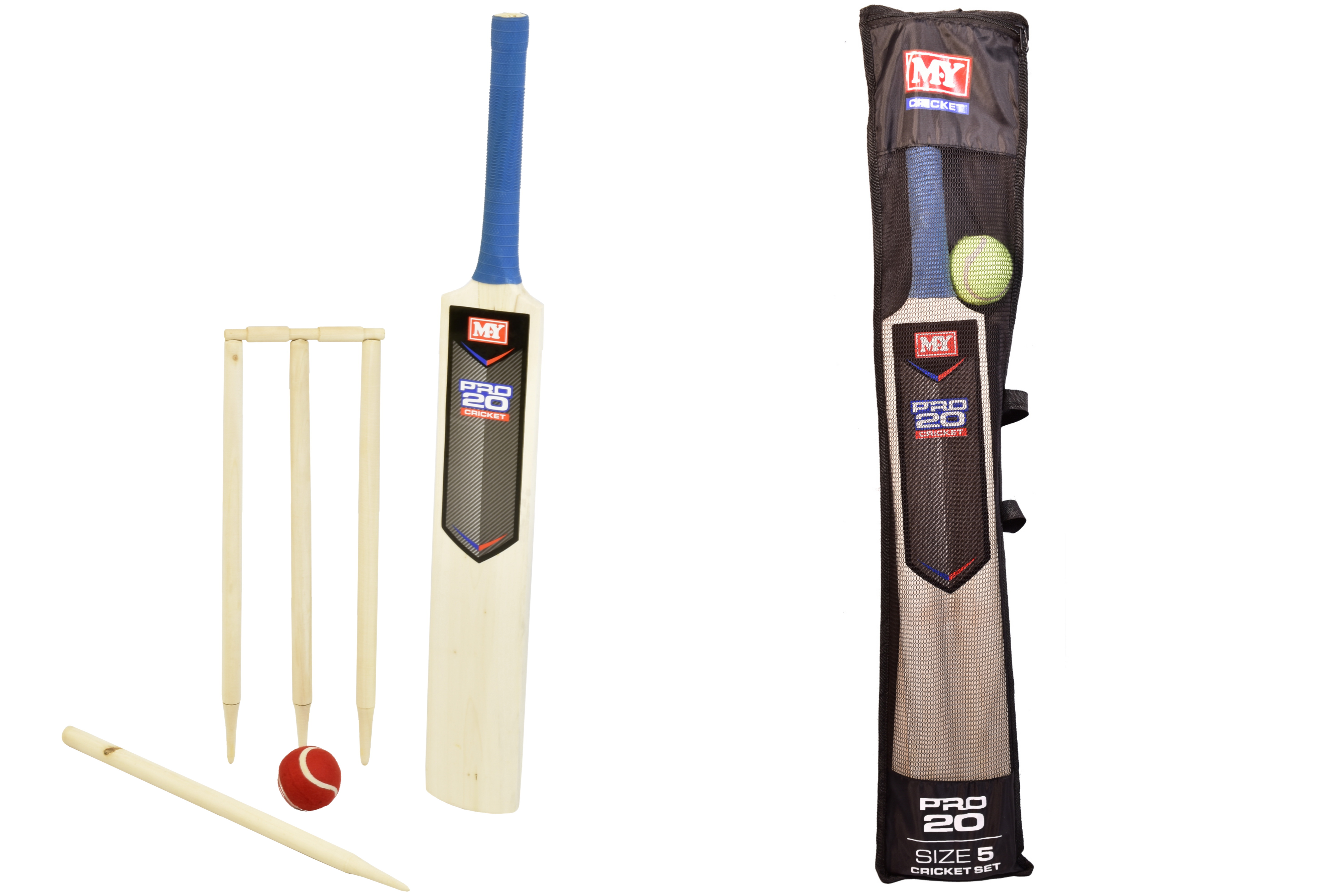 "Size 5 Cricket Set In Mesh Carry Bag ""M.Y"""