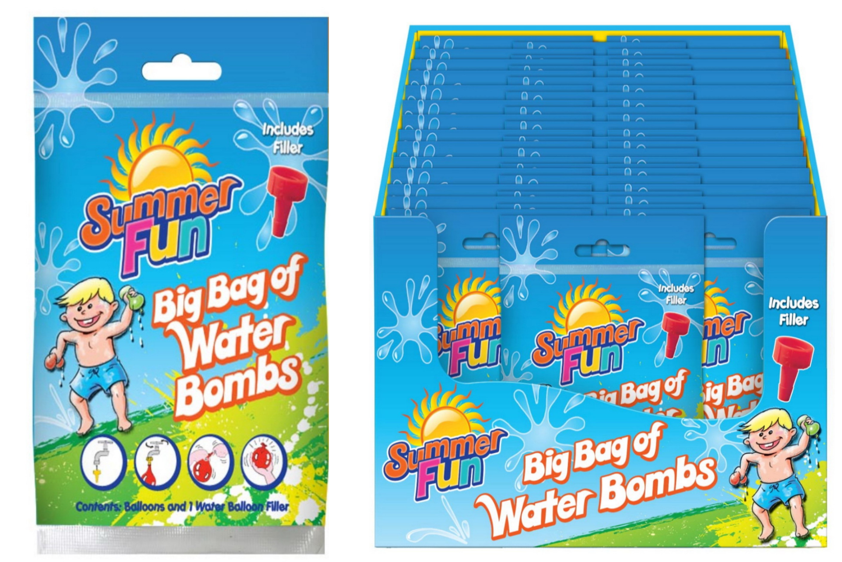 """Waterbombs With Filler In Pvc Bag/Dbx """"Summer Fun"""""""