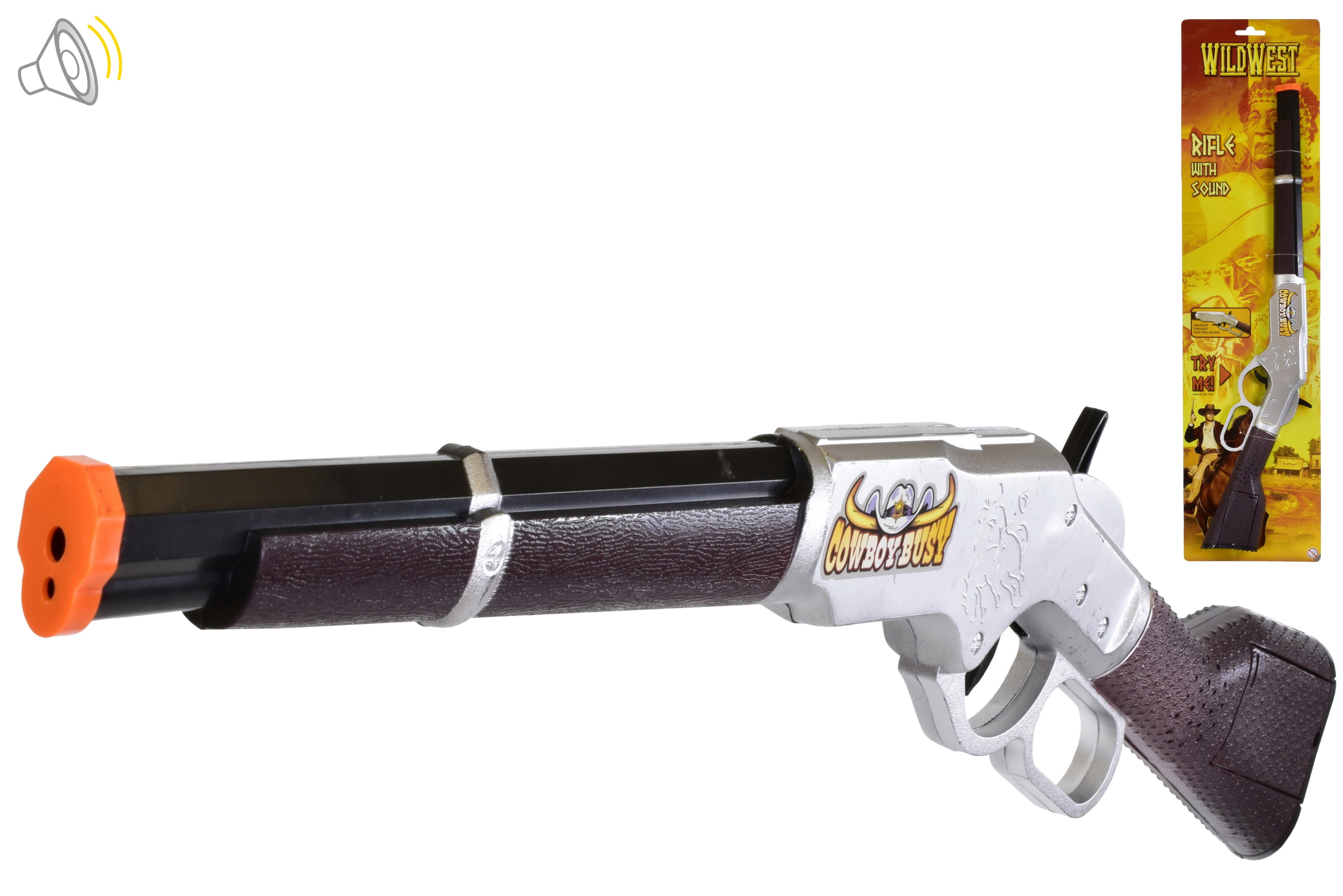 Wild West Rifle With Sound On Tie Card