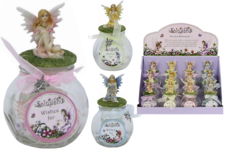 Fairyland Wishes Jar (4 Assorted) In Display Box