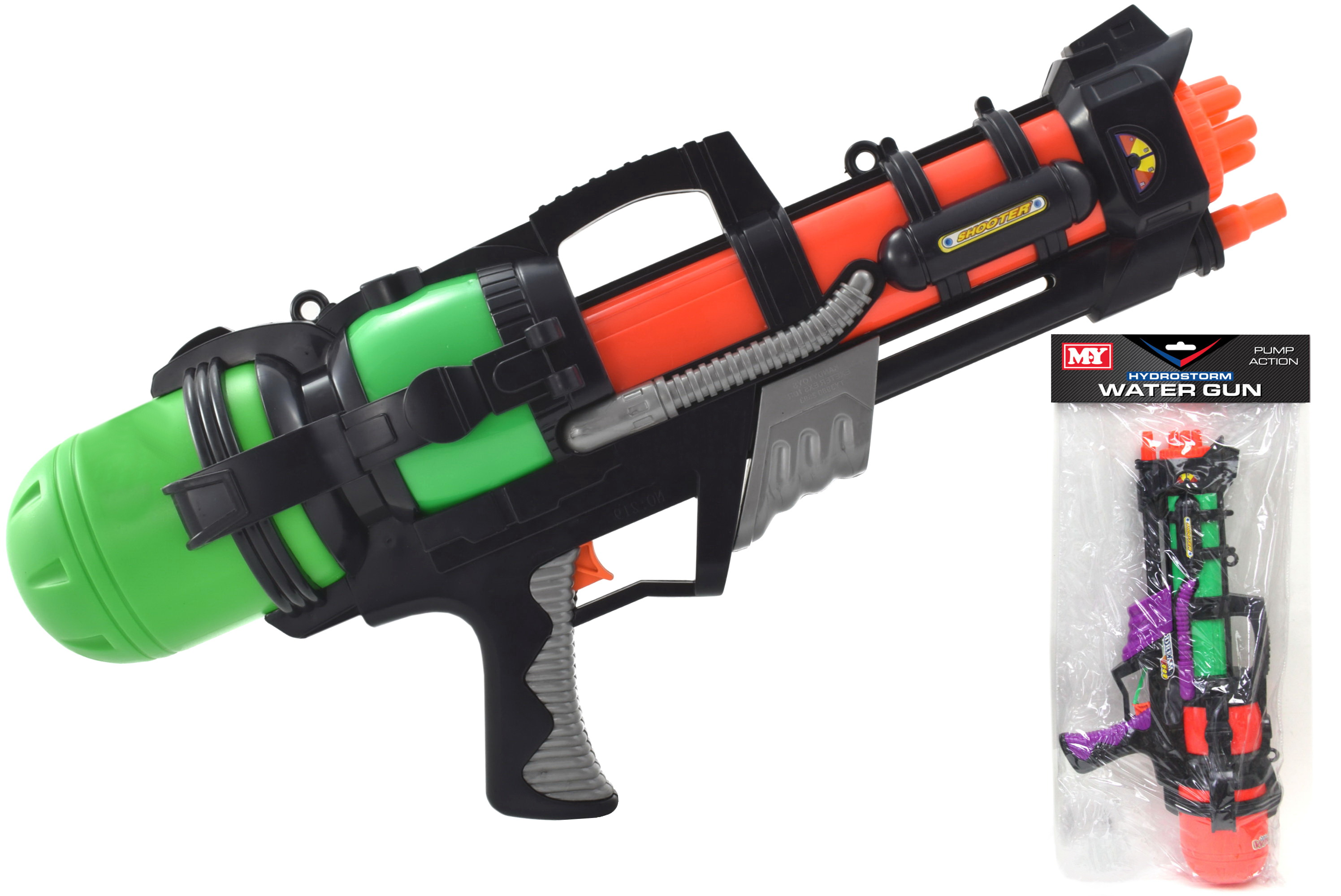 "Large Water Gun - Pvc Bag / Headercard ""My"""