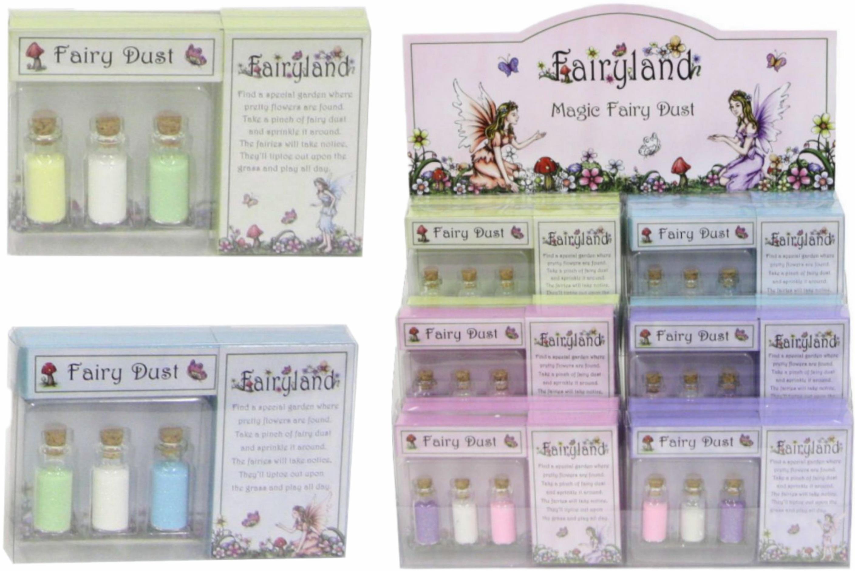 Fairyland Magic Fairy Dust 3pc Jar In Acetate Box 4 Ass