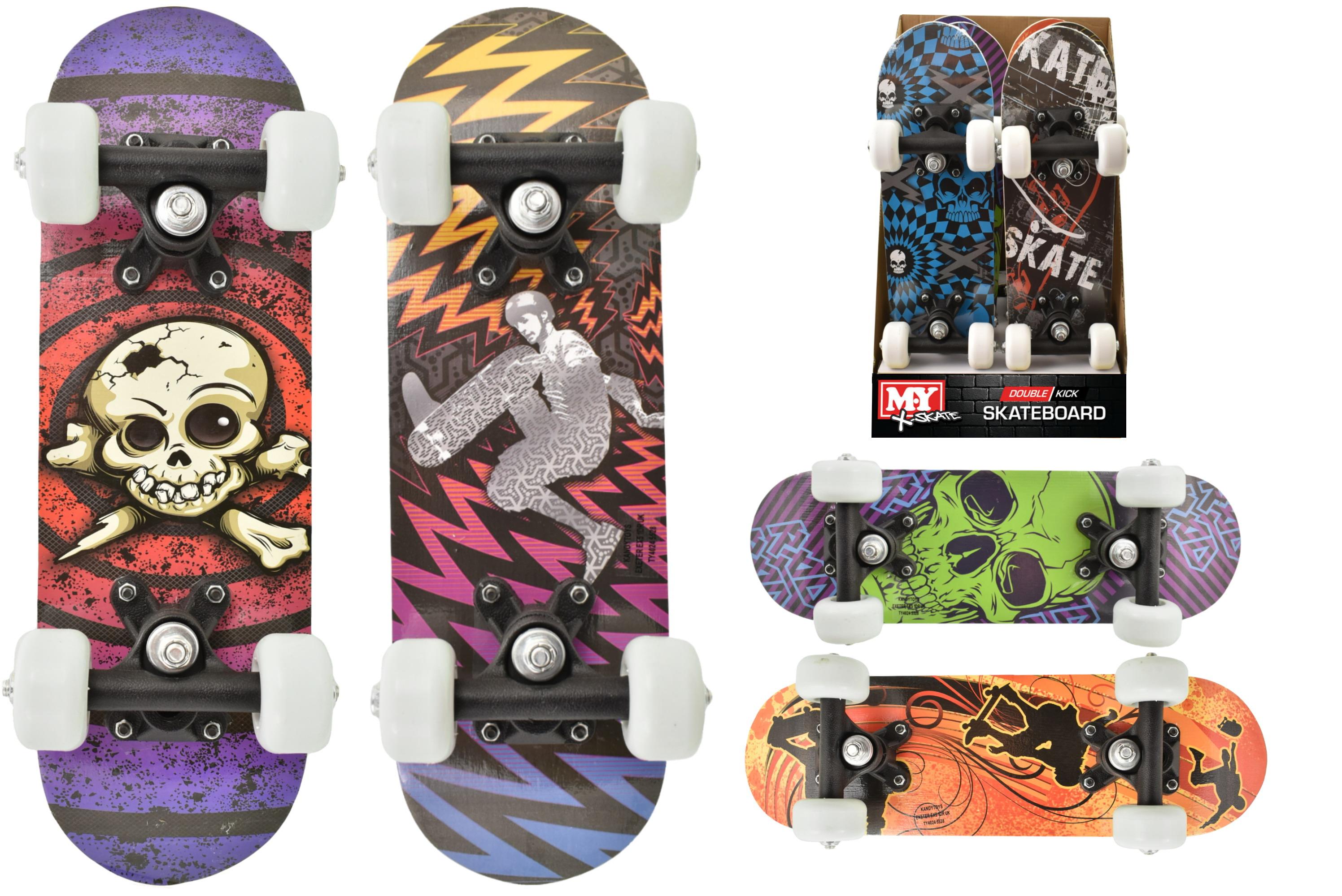 """16.5"""" x 5"""" Double Kick Skateboard (6 Asst) In Pdq"""