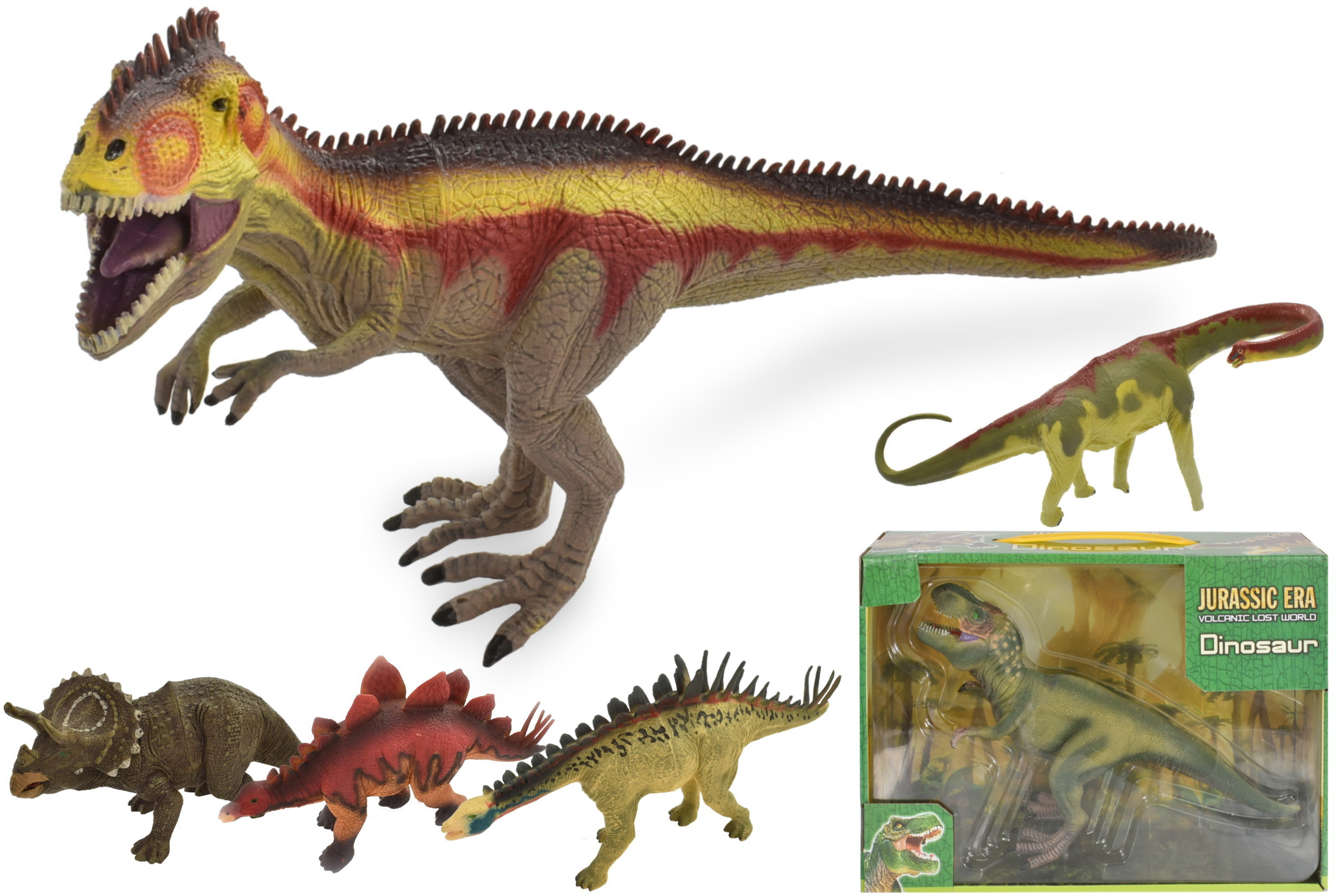 "9"" Dinosaur (6 Assorted)In Window Box ""Jurassic"""