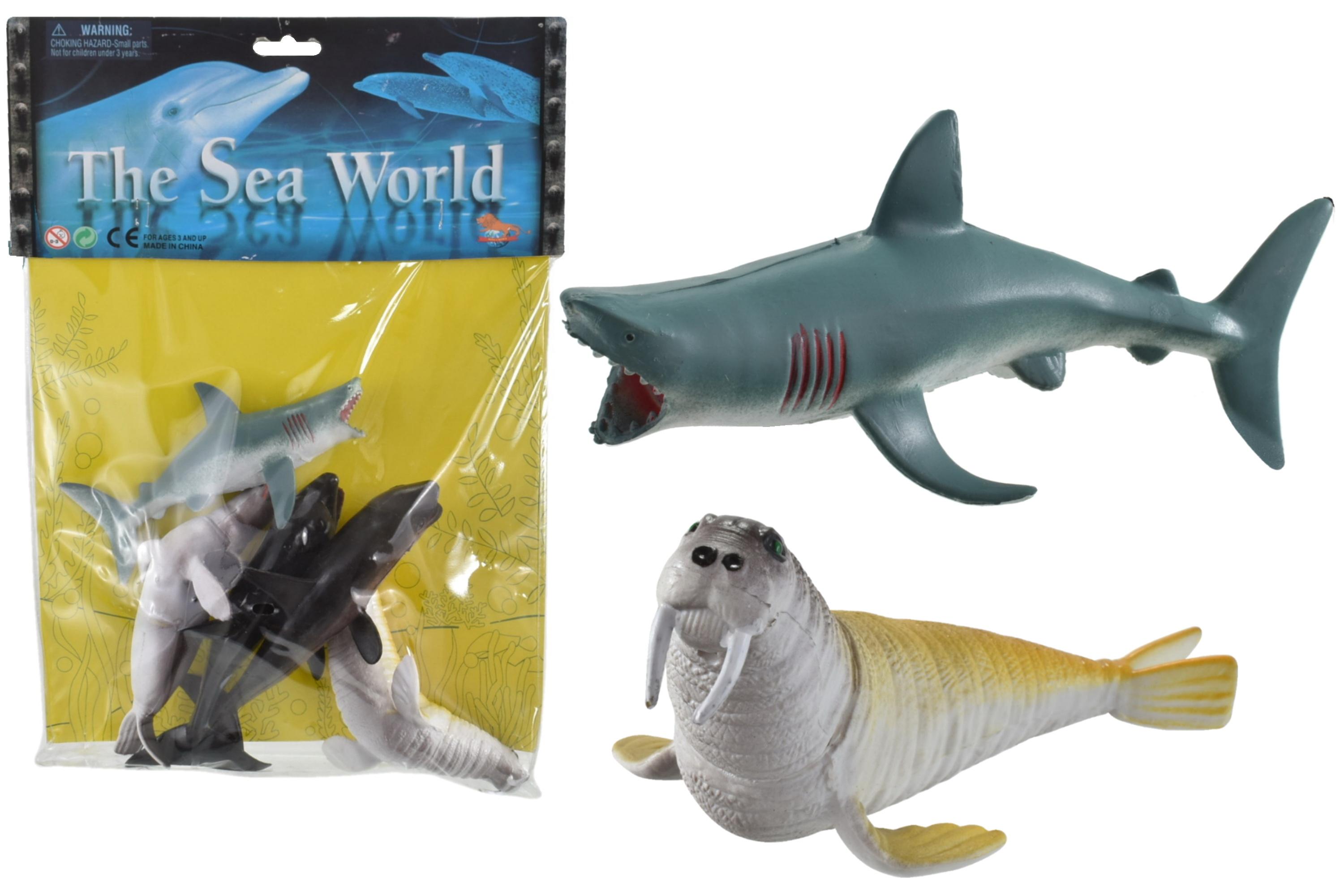 "6pc Pvc Sealife Animals (6"") In Pvc Bag/Header"