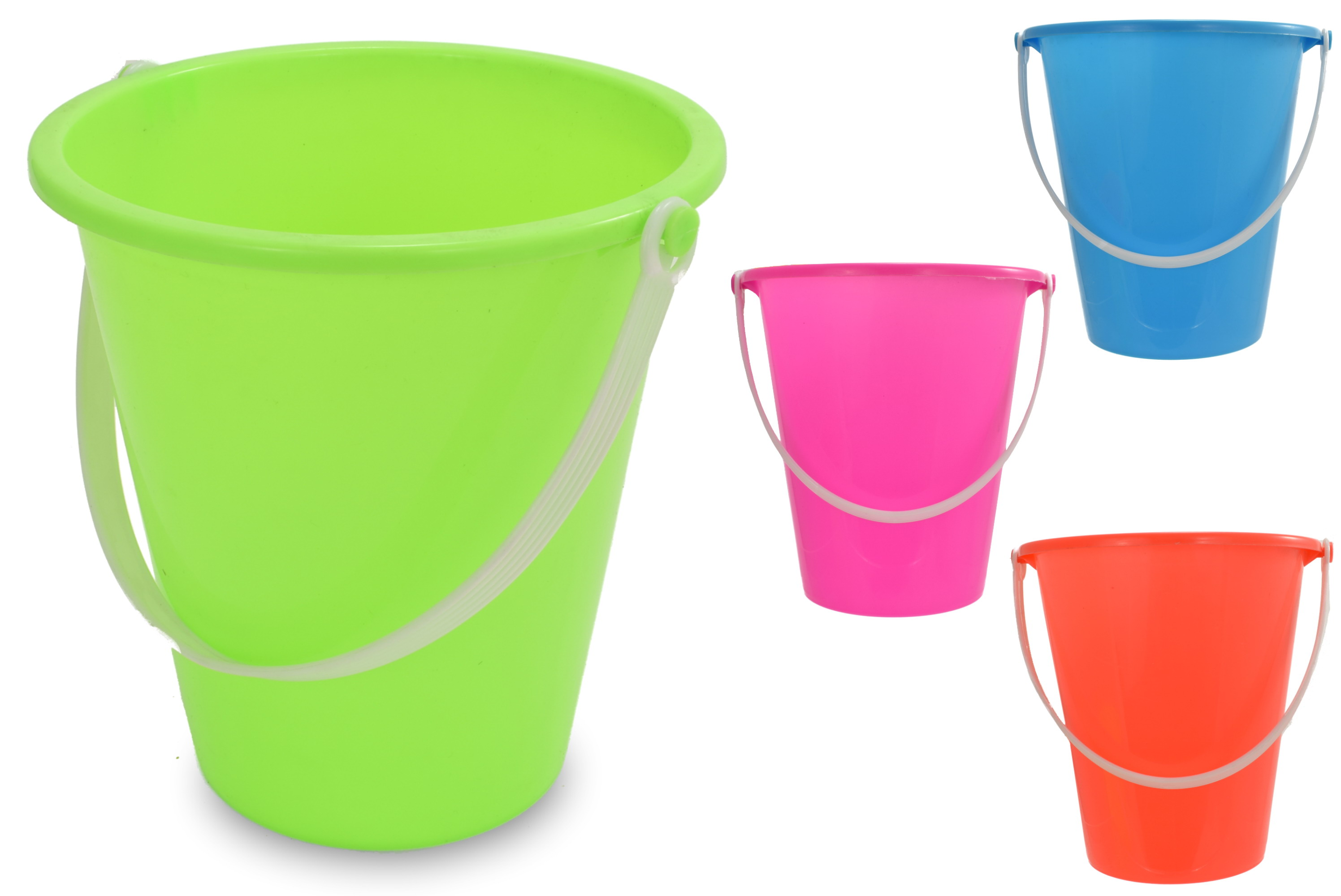 "12.5cm/5"" Round Neon Colour Bucket - Assorted Colours"